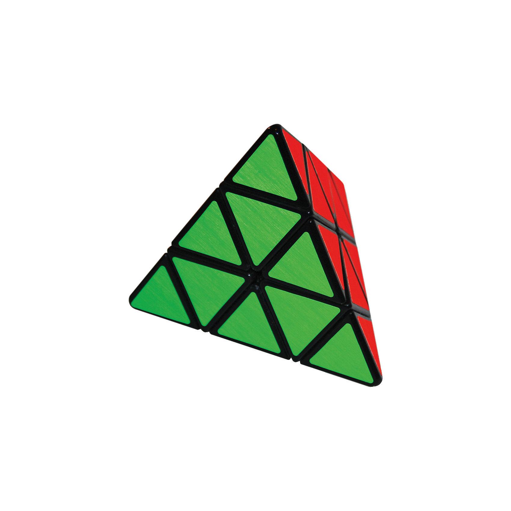 Головоломка Пирамидка, MeffertsОбъёмные головоломки<br>Mefferts Пирамидка (Mefferts Pyraminx): По лицензии знаменитого изобретателя Uwe Meffert, супер-качественная головоломка!<br><br>Известная механическая головоломка с 4-мя сторонами разного цвета. Предшественник кубика Рубика (появилась раньше!).<br><br>Цель - собрать все элементы одного цвета на одной стороне. <br><br>Пирамидка представляет собой геометрическое тело тетраэдр. Как и кубик Рубика, она состоит из элементов, которые при повороте граней могут перемешаться с грани на грань, только роль кубиков вдесь выполняют маленькие тетраэдры, из которых и сложен большой тетраэдр. Пирамидка похожа на кубик Рубика, однако значительно проще и для сборки потребуются другие алгоритмы. Каждый поворот - это вращение элементов вокруг одной из 4х осей головоломки на 120 градусов.<br><br><br>Дополнительная информация:<br><br>- Матовые виниловые наклейки с продленным сроком службы и яркими цветами сделаны в Германии по специальному заказу Mefferts.<br>- Подарочная упаковка-шестигранник.<br>- Высококачественный пластик и механизм с шариками-защёлками, обеспечивающими точную фиксацию каждого шага при вращении.<br><br>С момента появления, продано более 90 миллионов экземпляров, что ставит Пирамидку на 2-место по популярности сразу за кубиком Рубика.<br><br>Более 75 миллионов возможных комбинаций и не более 12 ходов на сборку (в теории!!). Разобравшись, вполне реально собирать Пирамидку не более чем за 20 поворотов.<br><br>Не обязательно собирать Пирамидку по цветам, можно создавать красивые симметричные узоры из комбинации цветов.<br><br>Ширина мм: 130<br>Глубина мм: 130<br>Высота мм: 115<br>Вес г: 300<br>Возраст от месяцев: 72<br>Возраст до месяцев: 1188<br>Пол: Унисекс<br>Возраст: Детский<br>SKU: 2504422