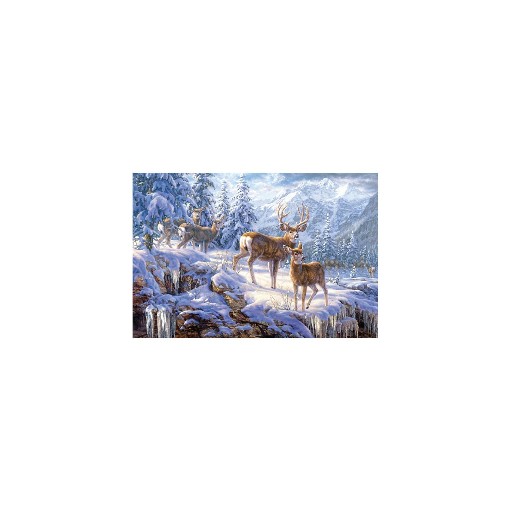 Пазл Олени в зимних горах, 1000 деталей, CastorlandКлассические пазлы<br>Пазл Олени в зимних горах от Castorland (Касторленд), 1000 деталей. <br><br>Благородные олени - это могучие животные, обитающие в лесах Европы. Благодаря своей красоте и стати они украшали герба многих городов. Теперь у Вас есть возможность собрать зимний пазл с изображением оленей и украсить им детскую комнату. Такой пазл с удовольствием будут собирать не только дети, но и взрослые.<br><br>Дополнительная информация:<br><br>- Количество деталей: 1000<br>- Материал: плотный картон<br>- Размер собранного пазла: 680x470 мм <br>- Размер коробки: 350x250x52 мм<br>- Вес: 600 г.<br><br>Пазл Олени в зимних горах, 1000 деталей, Castorland (Касторленд) можно купить в нашем интернет-магазине.<br><br>Ширина мм: 350<br>Глубина мм: 52<br>Высота мм: 250<br>Вес г: 500<br>Возраст от месяцев: 72<br>Возраст до месяцев: 1188<br>Пол: Унисекс<br>Возраст: Детский<br>Количество деталей: 1000<br>SKU: 2508081