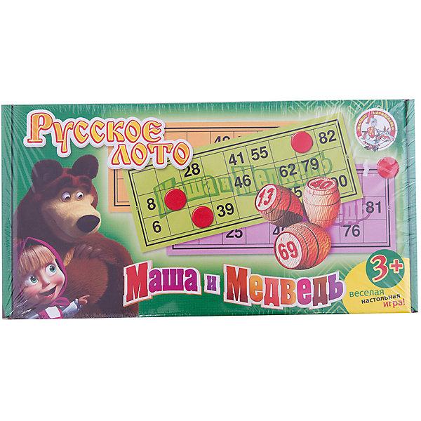 Лото деревянное, Маша и МедведьЛото<br>Русское лото «Маша и медведь» представляет собой увлекательную деревянную игрушку, которая станет интересной не только детям, но и взрослым. <br>Цель игры: нужно как можно быстрее заполнить свои цветные карточки. <br><br>Дополнительная информация:<br><br>В игровой набор входит всё необходимое, начиная от комплекта карточек в количестве 24 штуки и заканчивая деревянными бочонками с номерами (90 штук) и мешком, а также пластмассовые жетоны (100 шт). <br><br>Великолепный способ провести вечер в семейном или дружеском кругу.<br><br>Ширина мм: 305<br>Глубина мм: 155<br>Высота мм: 60<br>Вес г: 910<br>Возраст от месяцев: 36<br>Возраст до месяцев: 1188<br>Пол: Унисекс<br>Возраст: Детский<br>SKU: 2513120