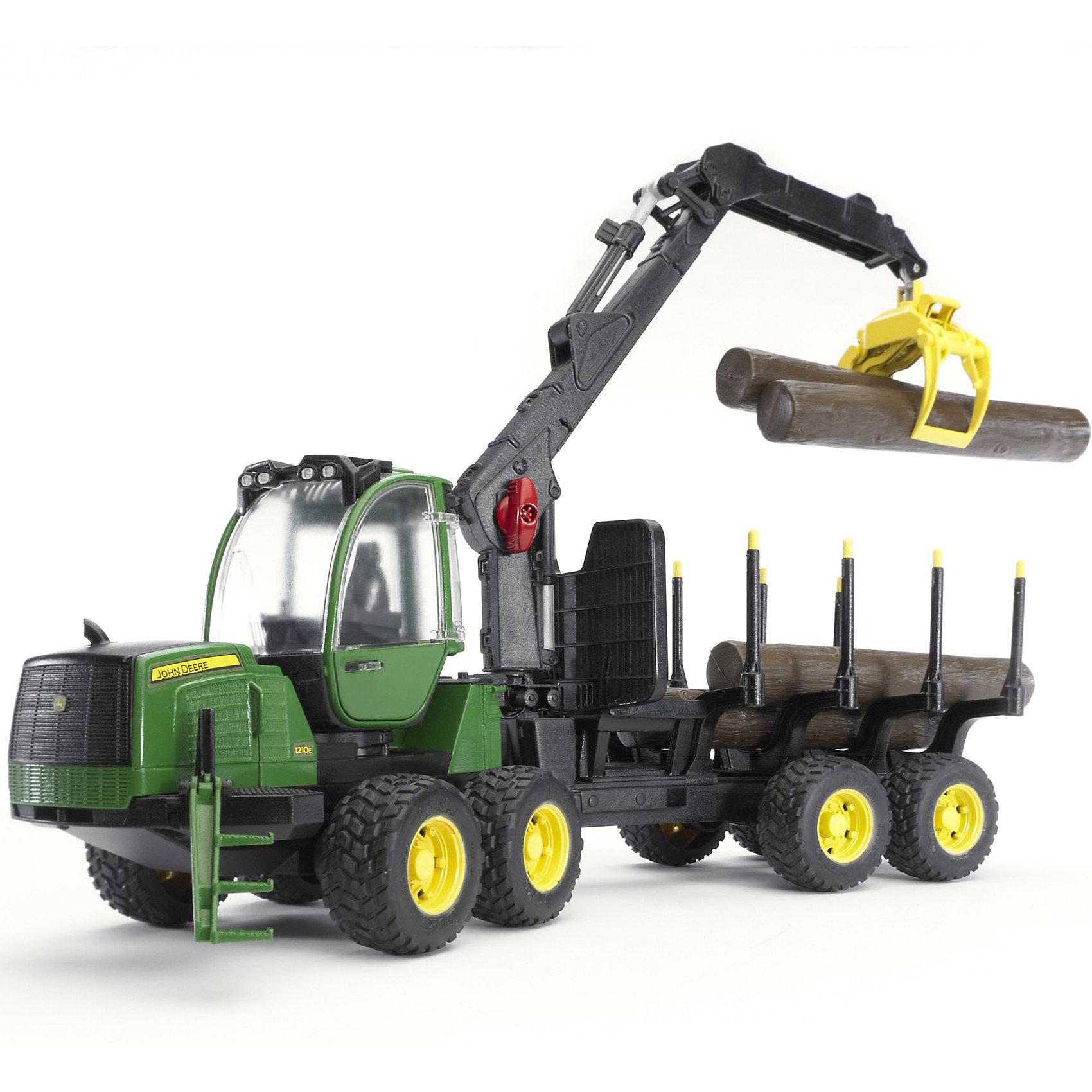 Bruder Трактор John Deere 1210E, Bruder tomy трактор john deere 6830