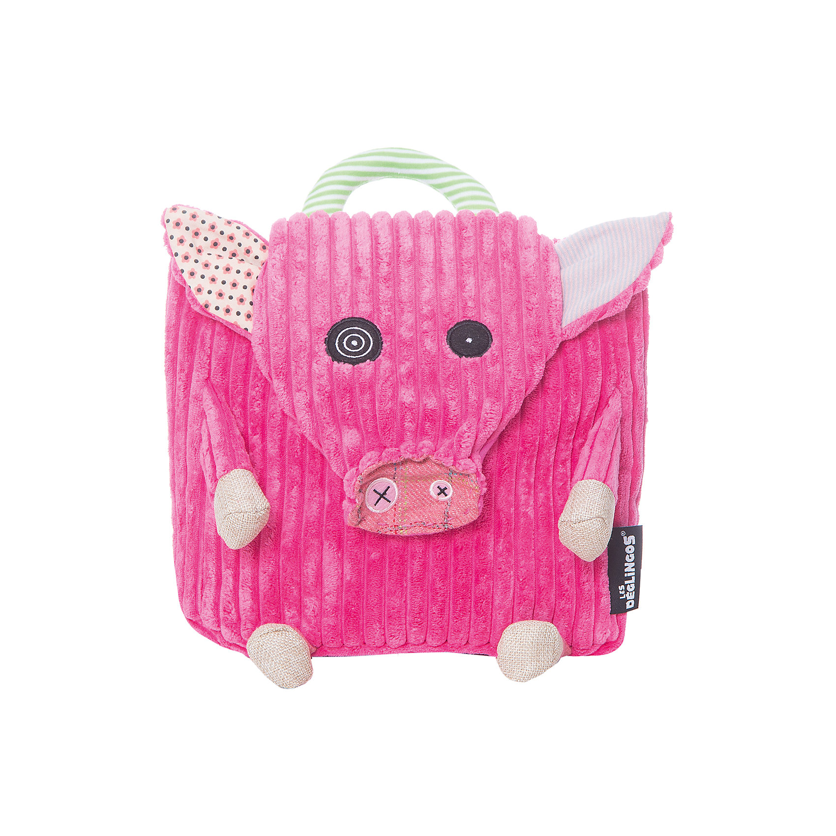 DEGLINGOS  Рюкзак Свинка JambonosПлюшевые сумки и рюкзаки<br>DEGLINGOS  Рюкзак Свинка Jambonos (Деглингос)<br><br>Характеристики:<br><br>• оригинальный дизайн<br>• регулируемые лямки<br>• застежки-липучки<br>• материал: текстиль, пластик<br>• размер рюкзака: 25х25 см<br>• размер упаковки: 26х25х4,5 см<br><br>Оригинальный рюкзачок от DEGLINGOS выполнен в виде забавной свинки. Она имеет глаза разного размера, что делает ее еще более привлекательной. Рюкзак имеет две регулируемые лямки, небольшую ручку и застежки-липучки. Рюкзак в виде свинки идеально подойдет для детей дошкольного возраста.<br><br>DEGLINGOS  Рюкзак Свинка Jambonos (Деглингос) вы можете купить в нашем интернет-магазине.<br><br>Ширина мм: 250<br>Глубина мм: 60<br>Высота мм: 300<br>Вес г: 160<br>Возраст от месяцев: 24<br>Возраст до месяцев: 60<br>Пол: Унисекс<br>Возраст: Детский<br>SKU: 2523731