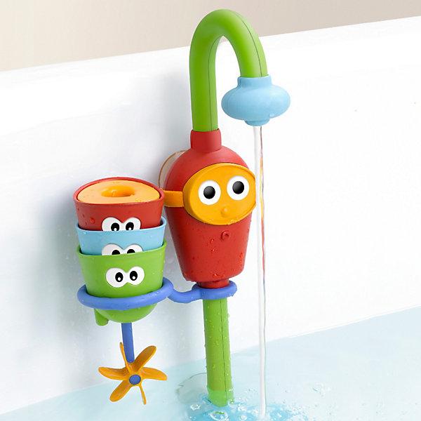 Водная игрушка Волшебный кран, YookidooИгрушки для ванной<br>•«Волшебный кран» легко крепится к стенкам ванной с помощью 2 прочных присосок и, забирая воду из ванной, создает постоянный поток воды<br>•В наборе: красочный кран, 3 забавные формочки с глазками (ситечко, формочка с вращающимися лопастями и формочка-сюрприз с поплавком)<br>•Игрушка способствует развитию воображения, восприятию формы и цвета, тренирует внимание и память<br>•Легко управлять. Специально разработано для маленьких детских ручек. Работает от 3батареек АА(не входят в комплект)<br><br>Ширина мм: 393<br>Глубина мм: 187<br>Высота мм: 96<br>Вес г: 553<br>Возраст от месяцев: 9<br>Возраст до месяцев: 36<br>Пол: Унисекс<br>Возраст: Детский<br>SKU: 2528510