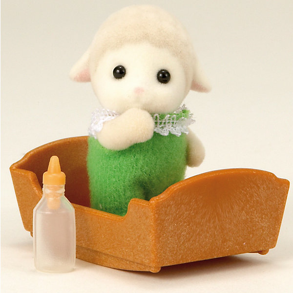 Набор Малыш Овечка Sylvanian FamiliesSylvanian Families<br>Малыш Овечка - сладкий малыш, о котором так и хочется позаботиться! Он одет в зеленый комбинезончик с кружевами и любит спать в своей колыбельке, особенно зимой. Малыша нужно покормить из бутылочки и уложить спать в уютную кроватку.  <br>Голова малыша с черными глазками-бусинками поворачивается, а лапки двигаются.<br><br>В этом комплекте Sylvanian Families (Сильваниан Фэлимиес):<br>- Малыш Овечка высотой 3,5 см<br>- колыбелька<br>- бутылочка <br>Дополнительная информация:<br>Размер коробки: 8 х 4 х 12 см.<br><br> Материал: высококачественная пластмасса, ПВХ с полимерным напылением, текстиль. <br><br>Ваш ребенок будет в восторге от этого малыша!<br><br>Ширина мм: 120<br>Глубина мм: 78<br>Высота мм: 35<br>Вес г: 33<br>Возраст от месяцев: 36<br>Возраст до месяцев: 72<br>Пол: Женский<br>Возраст: Детский<br>SKU: 2531414