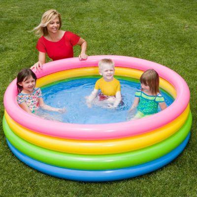 Детский надувной бассейн Радуга , Intex