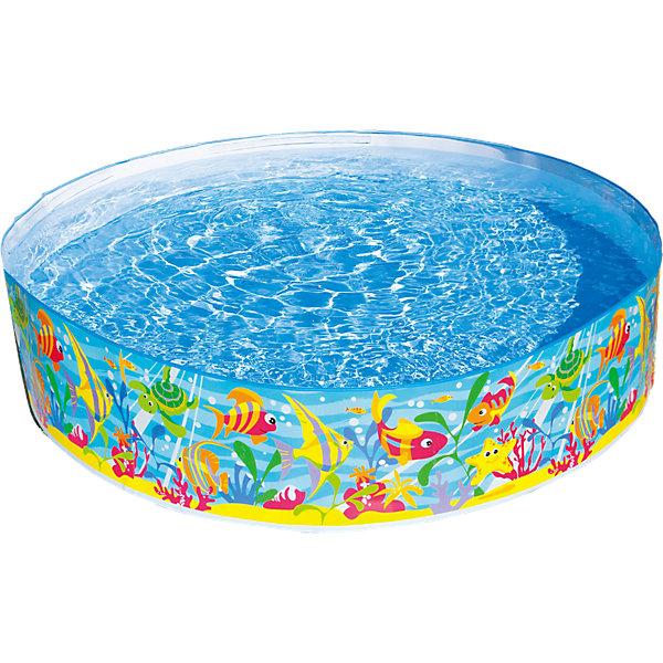 Детский каркасный бассейн, IntexБассейны<br>Характеристики товара:<br><br>• размер бассейна: 183х183х38 см<br>• объем: 800 литров при 80% заполнении<br>• материал: винил<br>• вес: 2.2 кг<br><br>Детский  бассейн, Intex (Интекс) с жесткими стенками украшен  картинками ярких рыбок. <br><br>Чтобы его поставить, специальная подготовка не требуется: надувать его не надо, просто необходимо развернуть и залить водой. <br><br>Веселое времяпрепровождение обеспечено!<br><br>Детский бассейн, Intex (Интекс) можно купить в нашем интернет-магазине.<br><br>Ширина мм: 416<br>Глубина мм: 159<br>Высота мм: 154<br>Вес г: 2140<br>Возраст от месяцев: 36<br>Возраст до месяцев: 1164<br>Пол: Унисекс<br>Возраст: Детский<br>SKU: 2535128