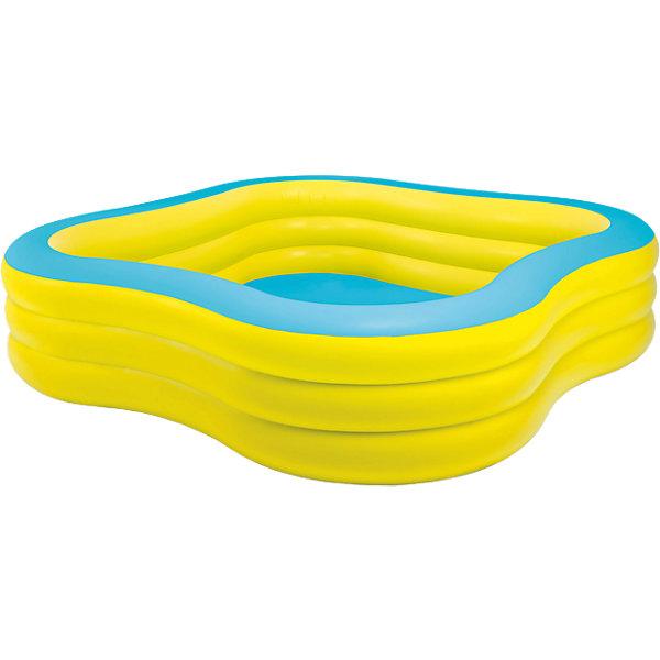 Детский надувной бассейн Семейный, IntexБассейны<br>Характеристики товара:<br><br>• размер бассейна: 229x229x56 см<br>• материал: винил<br>• объем: 925 л (при 80% наполнении) <br>• вес: 7,4 кг <br>• толщина стенок: 0.36 мм <br>• дно ненадувное<br><br>Детский надувной бассейн Семейный, Intex (Интекс) имеет очень необычную форму. <br><br>Бассейн очень вместительный и позволяет одновременно пребывать в бассейне нескольким взрослым и детям. <br><br>Очень широкие, упругие, прочные раздельные надувные секции с двойными защитными клапанами, служат в данной модели бассейна бортиками, на которых, при желании можно очень удобно расположиться.<br><br>Детский надувной бассейн Семейный, Intex (Интекс) можно купить в нашем интернет-магазине.<br>Ширина мм: 459; Глубина мм: 403; Высота мм: 134; Вес г: 6620; Возраст от месяцев: 72; Возраст до месяцев: 1164; Пол: Унисекс; Возраст: Детский; SKU: 2535135;