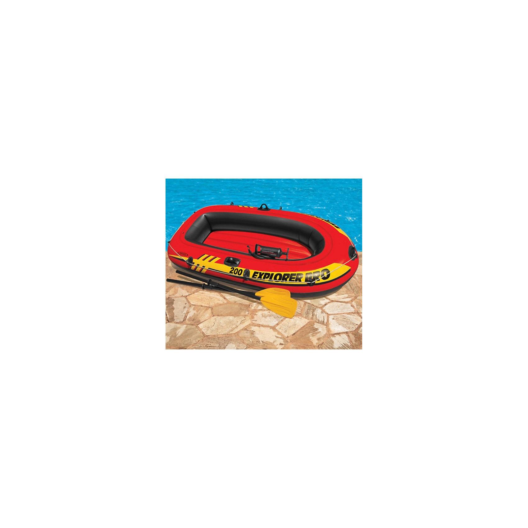 Intex Двухместная лодка с веслами Explorer 200, Intex лодка надувная intex seahawk 2 68347