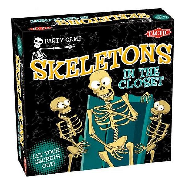 Игра Скелеты в шкафу, Tactic GamesНастольные игры для всей семьи<br>Игра Скелеты в шкафу, Tactic Games отлично подойдет для вечеринки. Правила игры очень просты. Вначале каждый игрок пишет свои секреты и прячет их в так называемый шкаф. После этого нужно покрутить стрелку на игровом поле, чтобы выбрать одну из тем для раунда( Люди, Отношения, Предметы). Далее 4 карточки выбранной темы выкладывают в один ряд. Игрок при этом решает какую карточку сохранить, вернуть, хранить в качестве амулета или избавиться от нее, указывая степень важности. Другие игроки должны угадать в каком порядке первый игрок расположил карты. Правильный ответ - шаг на игровом поле. При достижении черепа скелеты выходят из шкафа. Самое время узнать, какие секреты хранятся в шкафах ваших друзей!<br><br>Дополнительная информация:<br>Размер упаковки: 24х33х7 см<br>Вес: 560 грамм<br><br>Игру Скелеты в шкафу, Tactic Games вы можете приобрести в нашем интернет-магазине.<br>Ширина мм: 250; Глубина мм: 250; Высота мм: 62; Вес г: 949; Возраст от месяцев: 180; Возраст до месяцев: 1188; Пол: Унисекс; Возраст: Детский; SKU: 2539768;