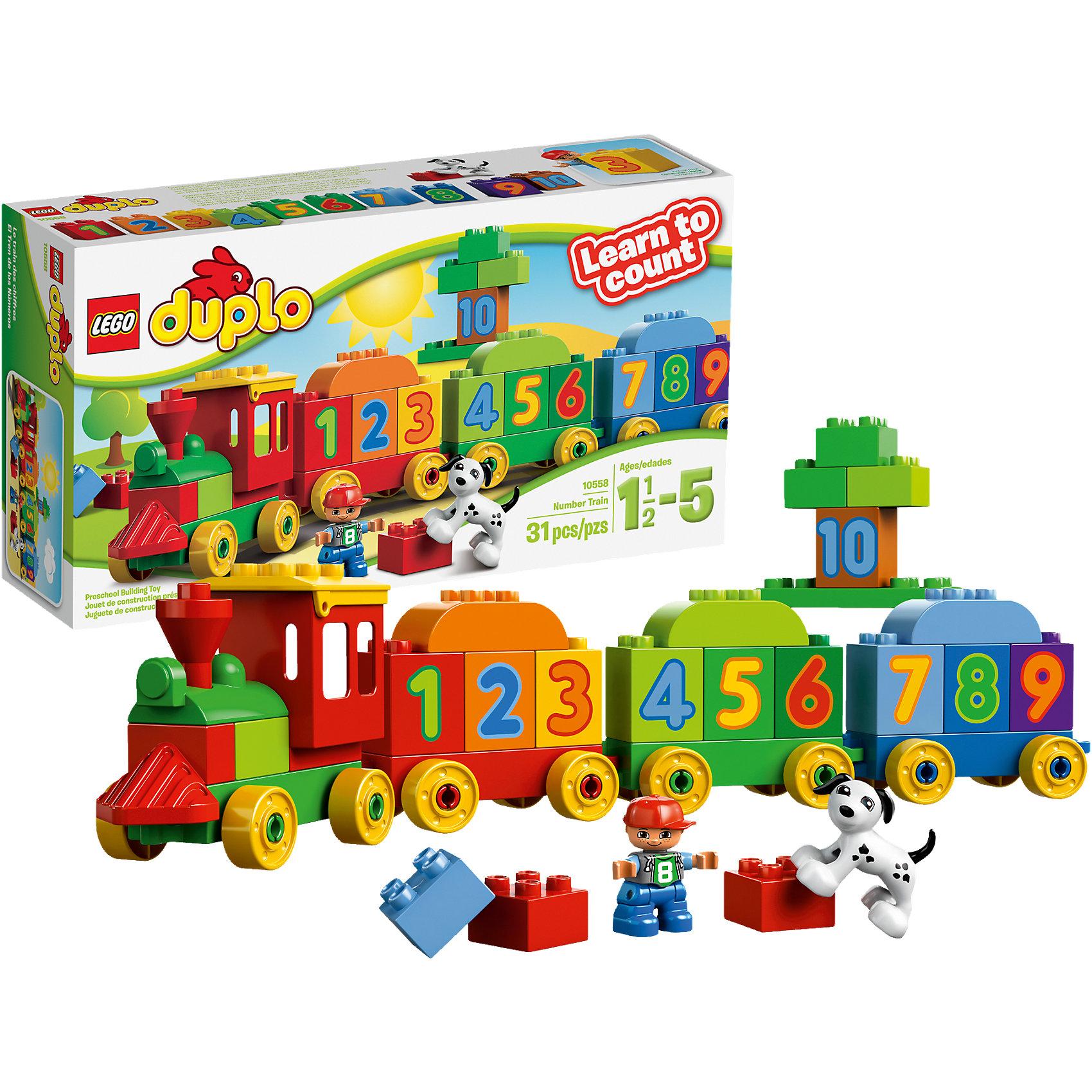 LEGO LEGO DUPLO 10558: Считай и играй lego lego duplo 10831 моя веселая гусеница