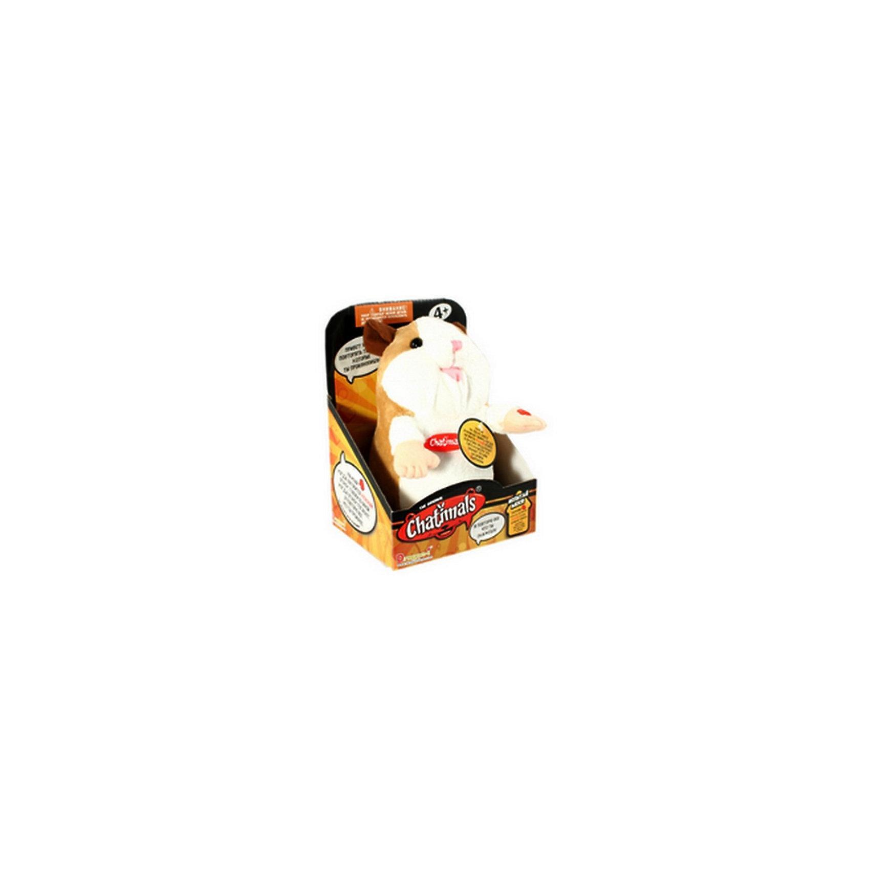 Dragon Интерактивный хомяк (Бело-коричневый) - Веселые повторюшки Чатималс