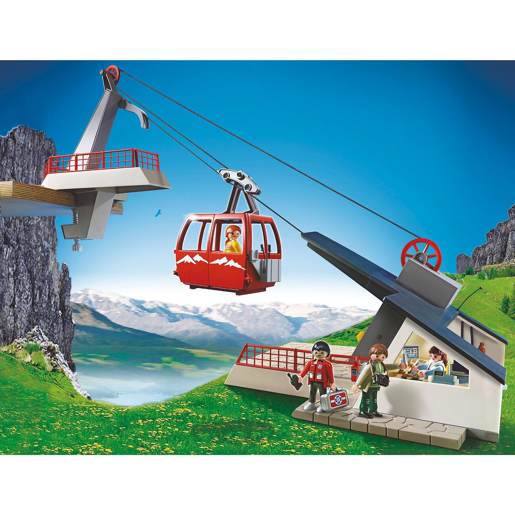 PLAYMOBIL® PLAYMOBIL 5426 В горах: Фуникулер фигурки игрушки playmobil зоопарк стая фламинго