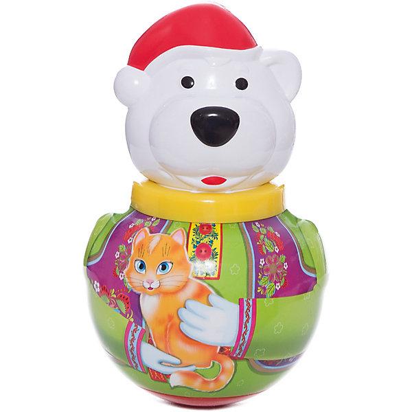 Неваляшка Белый медведь БорисЮлы, неваляшки<br>Неваляшка Белый медведь Борис - симпатичный белый медведь-неваляшка по имени Борис.<br><br>Стоит лишь подтолкнуть его, Борис начинает покачиваться и издает мелодичное позвякивание, но он никогда не падает - ведь Борис - неваляшка. <br><br>Отличная классическая игрушка, которая непременно доставит удовольствие вашему крохе!<br>Игрушка стимулирует развитие моторики и координации движении вашего ребенка.<br><br>Дополнительная информация:<br><br>- Размеры: 100*180*100 мм.<br>- Вес: 210 г.<br>- Материал игрушки: пластмасса.<br>- Упаковка: полиэтиленовый пакет.<br>Ширина мм: 100; Глубина мм: 260; Высота мм: 100; Вес г: 210; Возраст от месяцев: 6; Возраст до месяцев: 36; Пол: Унисекс; Возраст: Детский; SKU: 2555628;