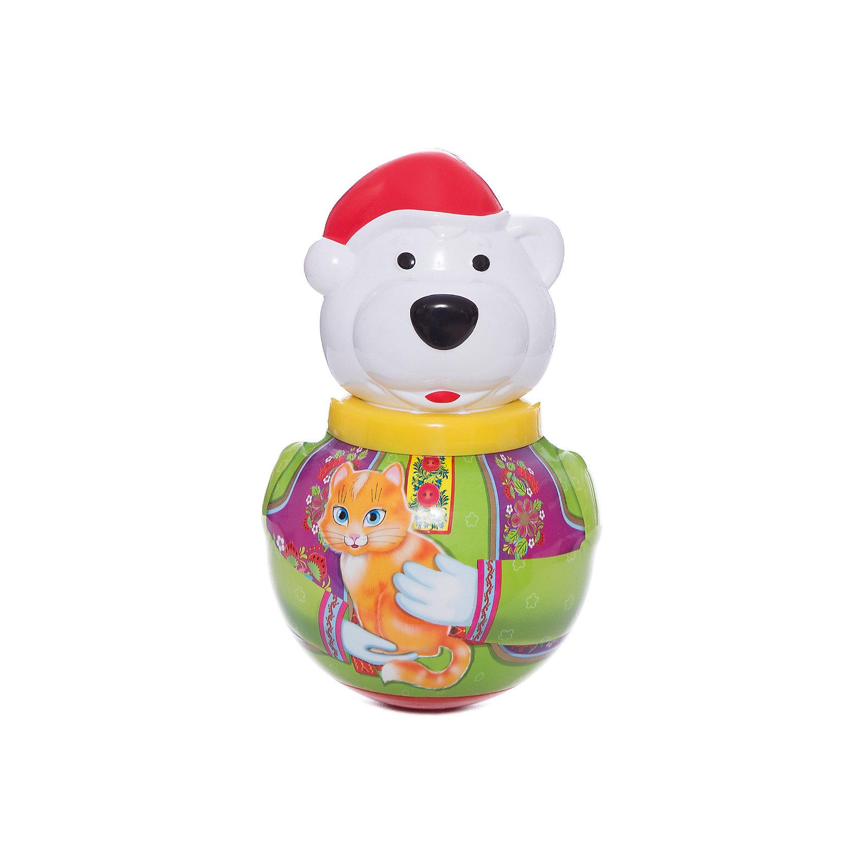 Неваляшка Белый медведь БорисЮлы, неваляшки<br>Неваляшка Белый медведь Борис - симпатичный белый медведь-неваляшка по имени Борис.<br><br>Стоит лишь подтолкнуть его, Борис начинает покачиваться и издает мелодичное позвякивание, но он никогда не падает - ведь Борис - неваляшка. <br><br>Отличная классическая игрушка, которая непременно доставит удовольствие вашему крохе!<br>Игрушка стимулирует развитие моторики и координации движении вашего ребенка.<br><br>Дополнительная информация:<br><br>- Размеры: 100*180*100 мм.<br>- Вес: 210 г.<br>- Материал игрушки: пластмасса.<br>- Упаковка: полиэтиленовый пакет.<br><br>Ширина мм: 100<br>Глубина мм: 260<br>Высота мм: 100<br>Вес г: 210<br>Возраст от месяцев: 6<br>Возраст до месяцев: 36<br>Пол: Унисекс<br>Возраст: Детский<br>SKU: 2555628