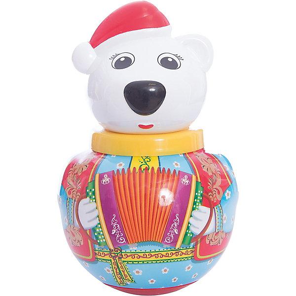 Неваляшка Белый медведь ТёмаЮлы, неваляшки<br>Белый медведь Тёма - яркая и красивая игрушка-неваляшка Белый медведь Тема.<br><br>У Темы очень добрый и нежный характер: в лапке он держит букетик цветов.<br><br>Стоит лишь подтолкнуть его, Тема начинает покачиваться и издает мелодичное позвякивание, но он никогда не падает, ведь Тема - не обычный белый медведь, а неваляшка. <br><br>Отличная классическая игрушка, которая непременно доставит удовольствие вашему крохе!<br>Игрушка стимулирует развитие моторики и координации движении вашего ребенка.<br><br>Дополнительная информация:<br><br>- Размеры: 100*180*100 мм.<br>- Вес: 210 г.<br>- Материал игрушки: пластмасса.<br>- Упаковка: полиэтиленовый пакет.<br>Ширина мм: 100; Глубина мм: 260; Высота мм: 100; Вес г: 210; Возраст от месяцев: 6; Возраст до месяцев: 36; Пол: Унисекс; Возраст: Детский; SKU: 2555629;