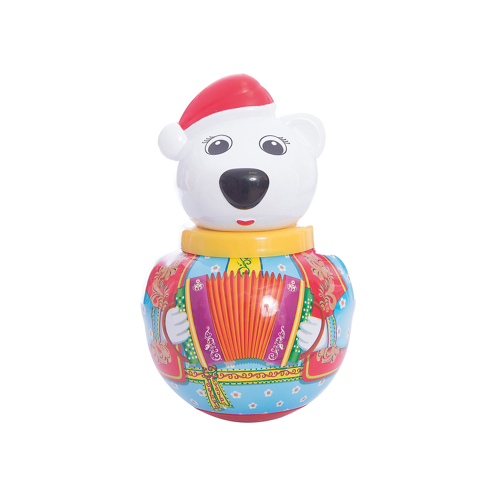 Неваляшка Белый медведь ТёмаНеваляшки<br>Белый медведь Тёма - яркая и красивая игрушка-неваляшка Белый медведь Тема.<br><br>У Темы очень добрый и нежный характер: в лапке он держит букетик цветов.<br><br>Стоит лишь подтолкнуть его, Тема начинает покачиваться и издает мелодичное позвякивание, но он никогда не падает, ведь Тема - не обычный белый медведь, а неваляшка. <br><br>Отличная классическая игрушка, которая непременно доставит удовольствие вашему крохе!<br>Игрушка стимулирует развитие моторики и координации движении вашего ребенка.<br><br>Дополнительная информация:<br><br>- Размеры: 100*180*100 мм.<br>- Вес: 210 г.<br>- Материал игрушки: пластмасса.<br>- Упаковка: полиэтиленовый пакет.<br><br>Ширина мм: 100<br>Глубина мм: 260<br>Высота мм: 100<br>Вес г: 210<br>Возраст от месяцев: 6<br>Возраст до месяцев: 36<br>Пол: Унисекс<br>Возраст: Детский<br>SKU: 2555629