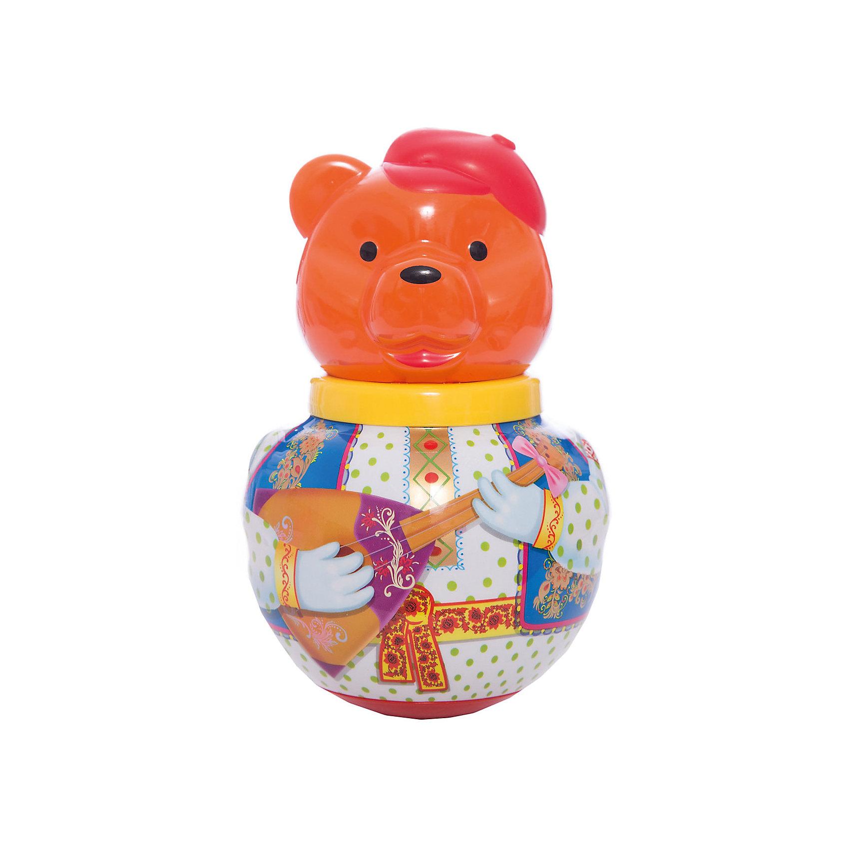 Неваляшка Бурый медведь ПотапычНеваляшки<br>Неваляшка Бурый медведь Потапыч - симпатичный бурый медведь-неваляшка по имени Михаил Потапыч, или просто Потапыч, по-свойски.<br><br>Стоит лишь подтолкнуть его, Потапыч начинает покачиваться и издает мелодичное позвякивание, но он никогда не падает - ведь Михаил Потапыч - не обыкновенный медведь, а неваляшка. <br><br>Отличная классическая игрушка, которая непременно доставит удовольствие вашему крохе!<br>Игрушка стимулирует развитие моторики и координации движении вашего ребенка.<br><br>Дополнительная информация:<br><br>- Размеры: 100*260*100 мм.<br>- Вес: 210 г.<br>- Материал игрушки: пластмасса.<br>- Упаковка: полиэтиленовый пакет.<br><br>Ширина мм: 100<br>Глубина мм: 260<br>Высота мм: 100<br>Вес г: 210<br>Возраст от месяцев: 6<br>Возраст до месяцев: 36<br>Пол: Унисекс<br>Возраст: Детский<br>SKU: 2555630