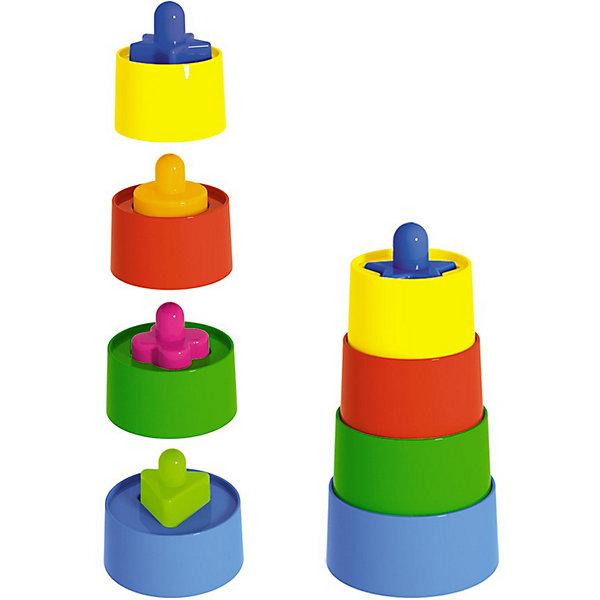 Пирамидка МатрешкаРазвивающие игрушки<br>Пирамидка Матрешка - яркая и красивая игрушка-пирамидка для вашего ребенка.<br><br>Помимо функций пирамидки, игрушка также сочетает в себе функции пазла, и чтобы собрать пирамидку потребуется также найти подходящие серединки для каждого уровня пирамидки.<br><br>Дополнительная информация:<br><br>- Материал: пластмасса.<br>- Количество деталей: 8 шт.<br><br>Ширина мм: 73<br>Глубина мм: 73<br>Высота мм: 140<br>Вес г: 100<br>Возраст от месяцев: 12<br>Возраст до месяцев: 48<br>Пол: Унисекс<br>Возраст: Детский<br>SKU: 2555632