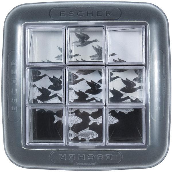 Головоломка Эшер, Recent ToysОбъёмные головоломки<br>Recent Toys Головоломка Эшер -  игра-головоломка с концептуальной графикой голландского художника Мориса Корнелиуса Эшера. <br><br>5 знаменитых изображений разбиты на 9 частей, так что собрать каждое из них можно, только правильно сопоставив 9 зеркальных частей  кубика. Изображение появится в виде отражений, образуемых каждым из кубиков. <br><br>Эта уникальная по своей конструкции и задумке головоломка не так проста, как кажется!<br><br>Можно собрать 5 изображений Эшера:<br><br>    Рука с Шаром / Hand with Reflecting Sphere (1935)<br>    Небо и вода/ Sky and Water 1 (1938)<br>    Выставка гравюр / Print Gallery (1956)<br>    Рисующие Руки / Drawing Hands (1948)<br>    Рептилии / Reptiles (1943)<br><br>Дополнительная информация:<br><br>- Размер кубиков: 3 х 3 х 3 см.<br>- Размер корпуса: 13 х 13см, высота 3 см.<br>- Размер упаковки: 21 х 21 х 10 см.<br>- Вес: 340 гр.<br><br>Отличная забава и тренировка для ума!<br><br>Ширина мм: 100<br>Глубина мм: 210<br>Высота мм: 210<br>Вес г: 340<br>Возраст от месяцев: 84<br>Возраст до месяцев: 1188<br>Пол: Унисекс<br>Возраст: Детский<br>SKU: 2556263