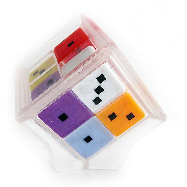 Головоломка Счастливая семерка, Recent ToysГоловоломки Кубик Рубика<br>Головоломка Счастливая семерка, Recent Toys<br><br>Характеристика:<br><br>-Возраст: от 7 лет<br>-Размер: 5х5х5 см<br><br>Это прекрасная математическая головоломка с большим количеством игровых заданий различной сложности. Может использоваться в образовательных целях, как учебное пособие для устного счета, изучения состава числа, выявления неординарных способностей. В основе игрушки 7 игральных кубиков разных цветов с точками от 0 до 5, которые перемещаются внутри прозрачного корпуса головоломки в форме большого куба, образуя комбинации цифр на гранях этого куба. На первый взгляд, комбинации абсолютно случайны, но у игрушки есть свои секреты. Например, сумма точек всех 4 кубиков на противоположных гранях куба всегда одинакова, так что игроку не нужно проверять значения всех 6 сторон головоломки ,зная значения на 3 смежных гранях, легко вычислить всю сумму цифр на Семерке. Головоломка поможет ребёнку в развитии логики, вычислительного мышления и зрительного восприятия.  <br><br>Головоломка Счастливая семерка, Recent Toys можно приобрести в нашем интернет-магазине.<br>Ширина мм: 80; Глубина мм: 210; Высота мм: 210; Вес г: 200; Возраст от месяцев: 84; Возраст до месяцев: 1188; Пол: Унисекс; Возраст: Детский; SKU: 2556264;