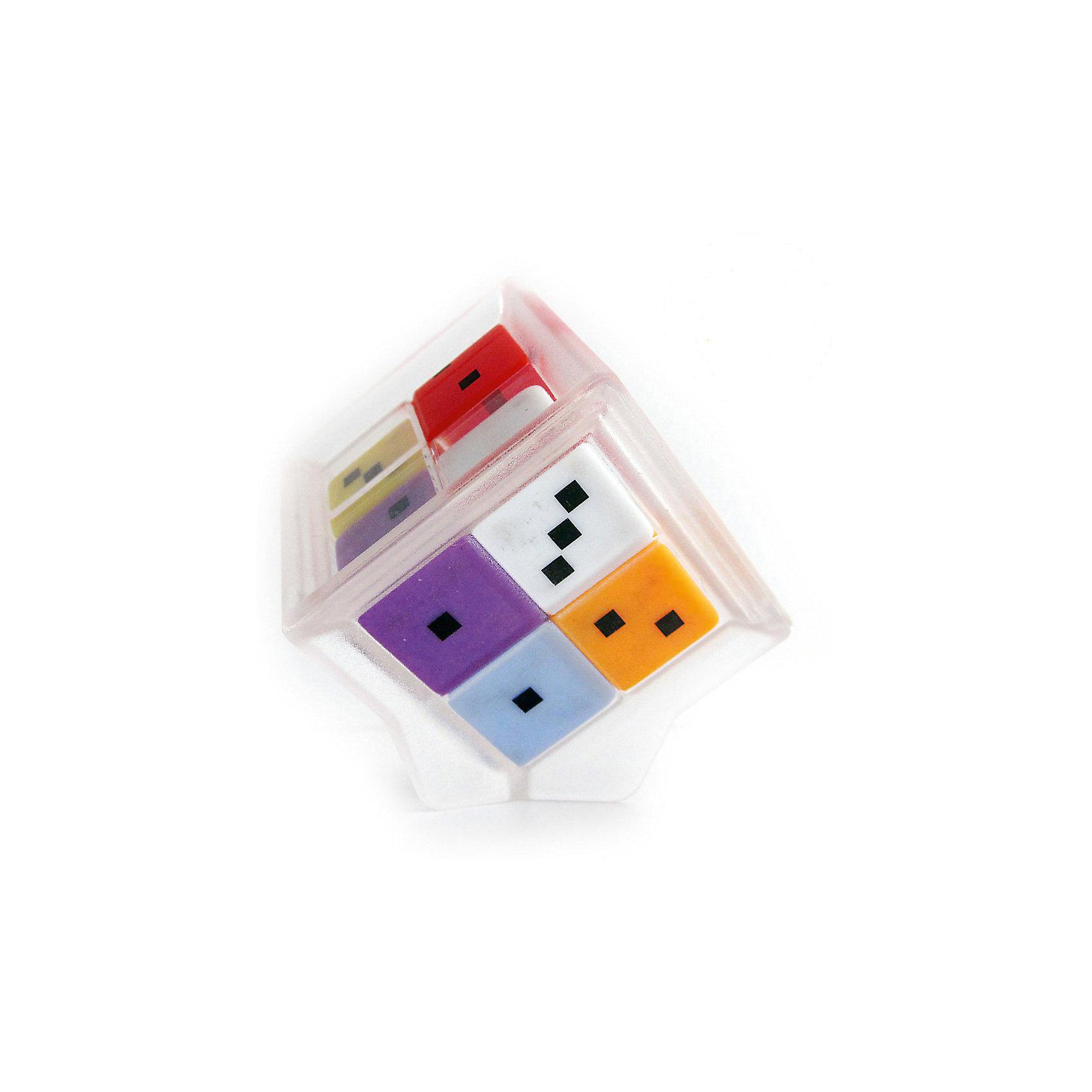 Головоломка Счастливая семерка, Recent ToysОбъёмные головоломки<br>Головоломка Счастливая семерка, Recent Toys<br><br>Характеристика:<br><br>-Возраст: от 7 лет<br>-Размер: 5х5х5 см<br><br>Это прекрасная математическая головоломка с большим количеством игровых заданий различной сложности. Может использоваться в образовательных целях, как учебное пособие для устного счета, изучения состава числа, выявления неординарных способностей. В основе игрушки 7 игральных кубиков разных цветов с точками от 0 до 5, которые перемещаются внутри прозрачного корпуса головоломки в форме большого куба, образуя комбинации цифр на гранях этого куба. На первый взгляд, комбинации абсолютно случайны, но у игрушки есть свои секреты. Например, сумма точек всех 4 кубиков на противоположных гранях куба всегда одинакова, так что игроку не нужно проверять значения всех 6 сторон головоломки ,зная значения на 3 смежных гранях, легко вычислить всю сумму цифр на Семерке. Головоломка поможет ребёнку в развитии логики, вычислительного мышления и зрительного восприятия.  <br><br>Головоломка Счастливая семерка, Recent Toys можно приобрести в нашем интернет-магазине.<br><br>Ширина мм: 80<br>Глубина мм: 210<br>Высота мм: 210<br>Вес г: 200<br>Возраст от месяцев: 84<br>Возраст до месяцев: 1188<br>Пол: Унисекс<br>Возраст: Детский<br>SKU: 2556264