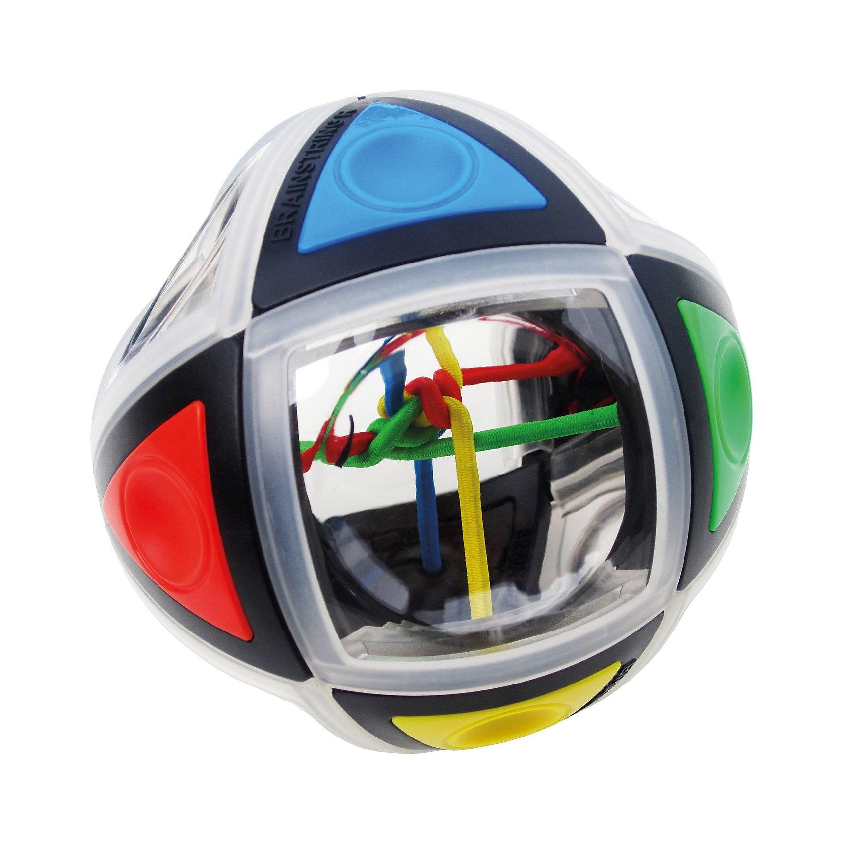 Головоломка BrainString R, Recent ToysИгры в дорогу<br>Головоломка BrainString R, Recent Toys<br><br>Характеристика:<br><br>-Возраст: от 7 лет<br>-Размер: 9,3 см<br><br>Задача головоломки довольно сложная : распутать цветные нити можно только путем вращений и поворотов поверхности шара. Внутри головоломки всего 4 нити разных цветов, которые хорошо просматриваются через специальные окошки-иллюминаторы на поверхности шара. Шар состоит из небольших деталей, соединенных особым способом, что позволяет поворачивать полусферы головоломки в различных плоскостях, перемещая таким образом цветные нити. Важная особенность BrainString-R в том, что шар сам помогает найти решение и распутать цветные резиночки в центре шара. Такая головоломка отлично развивает логическое мышление и зрительное восприятие. <br><br>Головоломка BrainString R, Recent Toys можно приобрести в нашем интернет-магазине.<br><br>Ширина мм: 100<br>Глубина мм: 210<br>Высота мм: 210<br>Вес г: 250<br>Возраст от месяцев: 84<br>Возраст до месяцев: 168<br>Пол: Унисекс<br>Возраст: Детский<br>SKU: 2556269