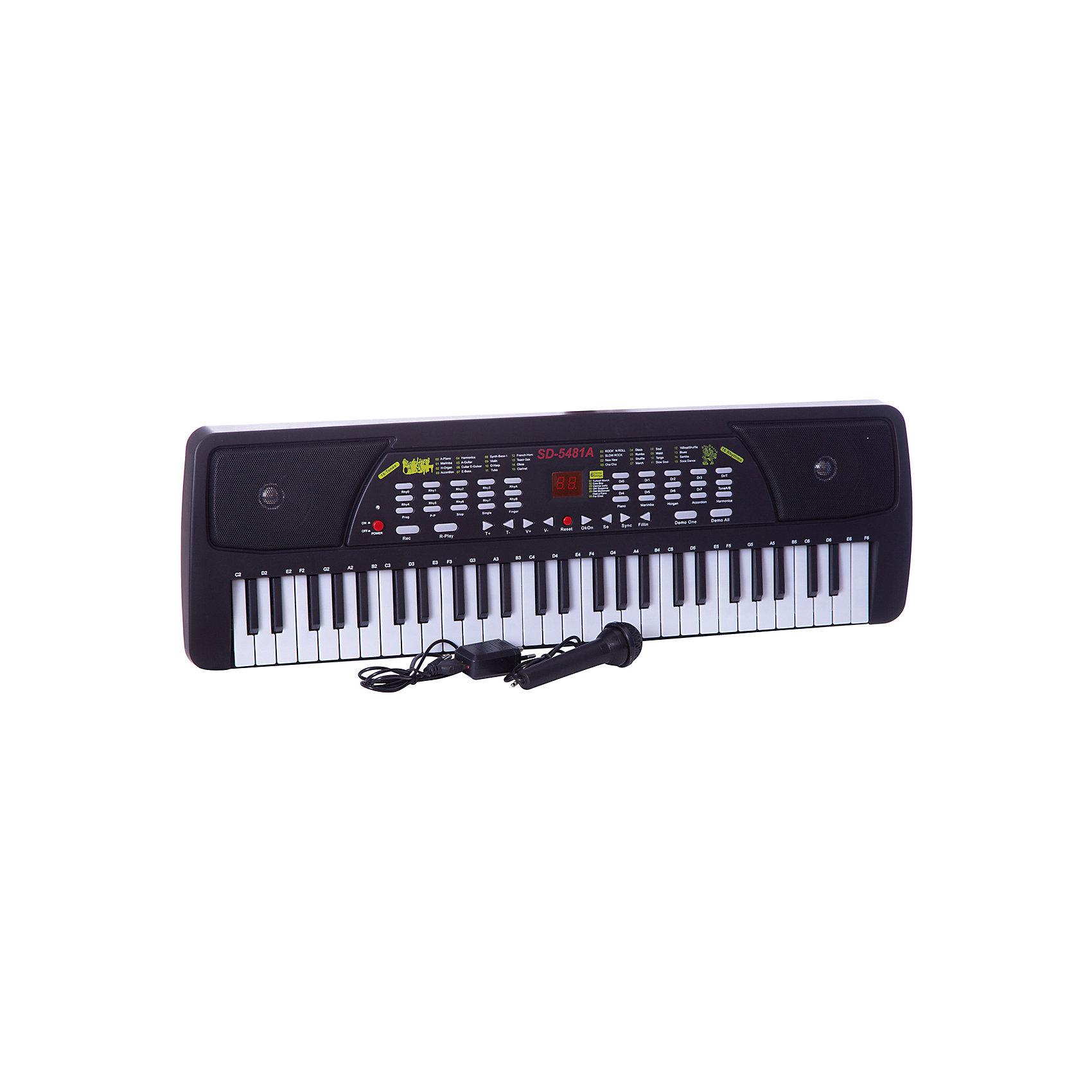 DoReMi Синтезатор с микрофоном, 54 клавишиМузыкальные инструменты и игрушки<br>Настоящий, почти взрослый синтезатор позволит ребенку почувствовать себя настоящим музыкантом. У него 54 клавиши, микрофон, 6 предзаписанных мелодий, 16 тональностей, 16 ритмов, встроенные функции программирования ритма, записи и воспроизведения. <br><br>Дополнительная информация:<br><br>Размеры: 68,5x8,7x23,6<br>Работает как от сети (DC6V - в комплекте), так и от батареек (4хАА - в комплекте нет)<br>Регулировка громкости и темпа<br><br>DoReMi Синтезатор с микрофоном, 54 клавиши можно купить в нашем магазине.<br><br>Ширина мм: 685<br>Глубина мм: 87<br>Высота мм: 236<br>Вес г: 1830<br>Возраст от месяцев: 60<br>Возраст до месяцев: 1188<br>Пол: Унисекс<br>Возраст: Детский<br>SKU: 2557197