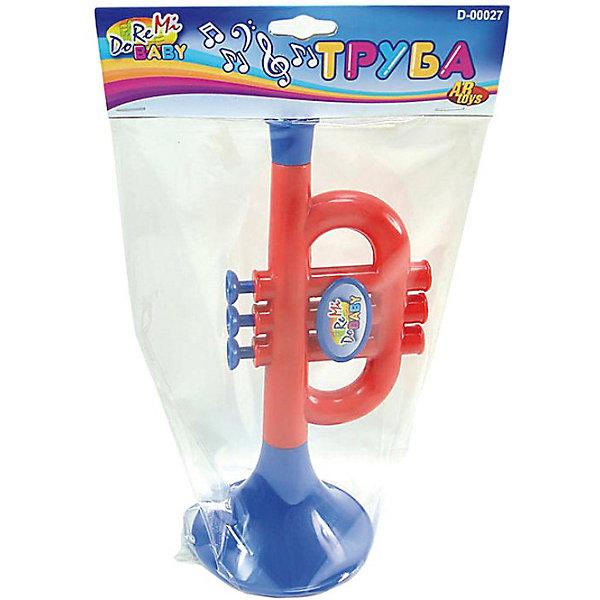 DoReMi ТрубаДетские музыкальные инструменты<br>DoReMi Труба  - детская музыкальная игрушка-труба с тремя клавишами для первых музыкальных произведений вашего ребенка!<br><br>Дополнительная информация:<br><br>- Размеры: 24х10,3х10,3 см.<br>- Вес: 110 г.<br>- Материал: пластмасса.<br>Ширина мм: 240; Глубина мм: 103; Высота мм: 103; Вес г: 110; Возраст от месяцев: 24; Возраст до месяцев: 96; Пол: Унисекс; Возраст: Детский; SKU: 2557198;