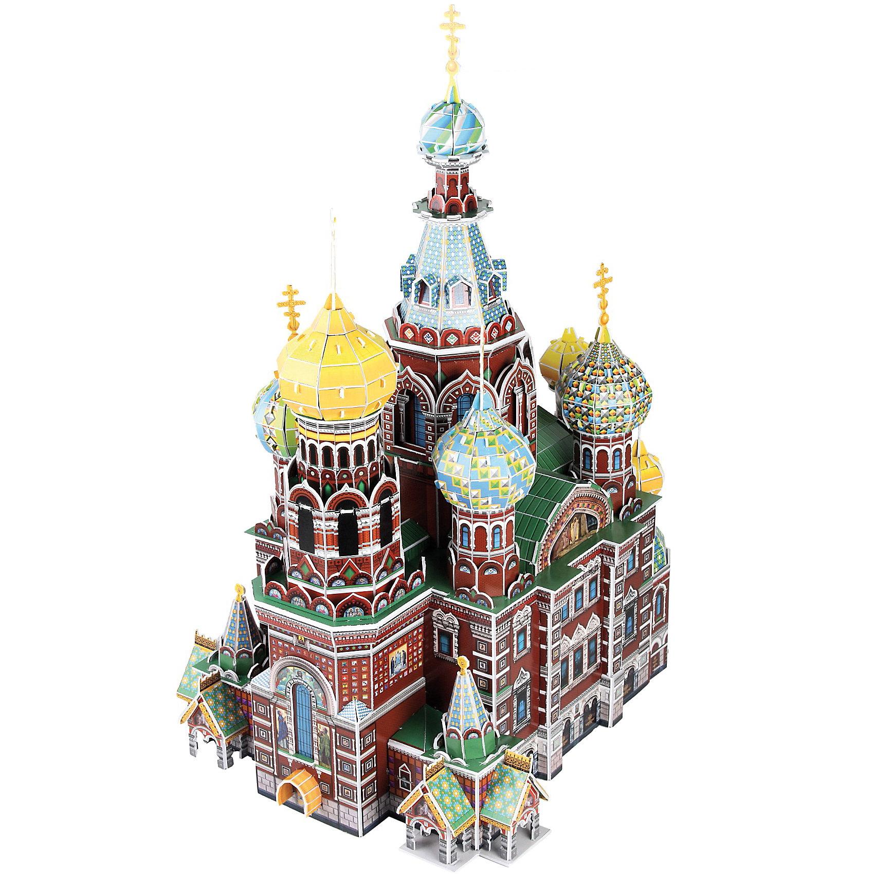CubicFun Пазл 3D Собор Воскресения Христова (Россия), 233 детали, CubicFun cubicfun 3d пазл рождественская церковь россия