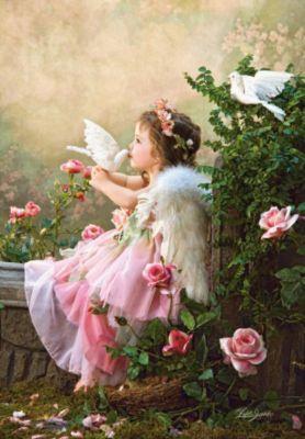 Пазлы Поцелуй ангела , 1000 деталей, Castorland