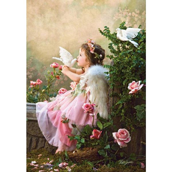 Пазлы Поцелуй ангела, 1000 деталей, CastorlandПазлы для детей постарше<br>Пазлы Поцелуй ангела, 1000 деталей  - яркий, красивый и качественный пазл от Castorland.<br><br>Дополнительная информация:<br><br>- Кол-во деталей: 1000 шт.<br>- Материал: картон.<br>- Размер собранной картинки: 68 х 47 см.<br>- Размеры: 350x250x50 мм.<br><br>Ширина мм: 350<br>Глубина мм: 50<br>Высота мм: 250<br>Вес г: 500<br>Возраст от месяцев: 168<br>Возраст до месяцев: 1188<br>Пол: Унисекс<br>Возраст: Детский<br>Количество деталей: 1000<br>SKU: 2562329