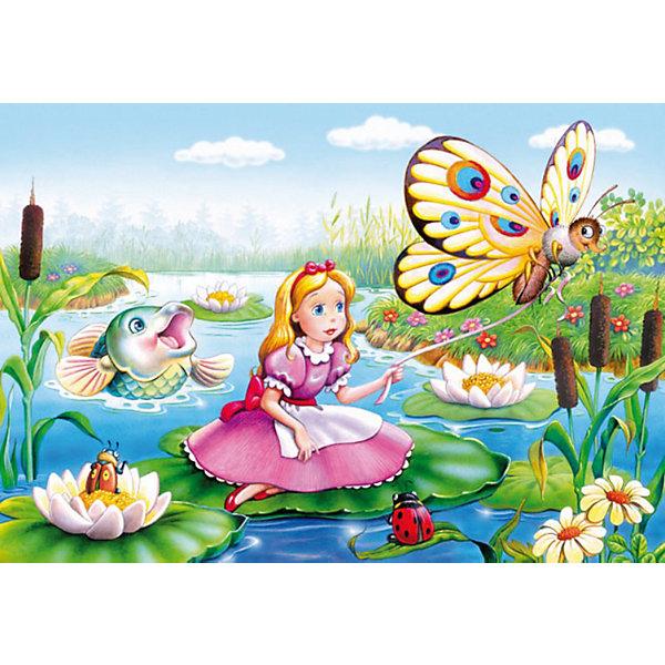 Пазлы Дюймовочка, 120 деталей, CastorlandПазлы для детей постарше<br>Пазлы Дюймовочка, 120 деталей - яркий и красивый пазл-мозаика для детей, созданный по мотивам любимой сказки.<br><br>Дополнительная информация:<br><br>- Кол-во деталей: 120 шт.<br>- Материал: картон.<br>- Размер собранной картинки: 32 х 23 см.<br>- Размеры упаковки:  183x132x37 мм.<br><br>Ширина мм: 180<br>Глубина мм: 40<br>Высота мм: 130<br>Вес г: 150<br>Возраст от месяцев: 60<br>Возраст до месяцев: 120<br>Пол: Женский<br>Возраст: Детский<br>Количество деталей: 120<br>SKU: 2562341