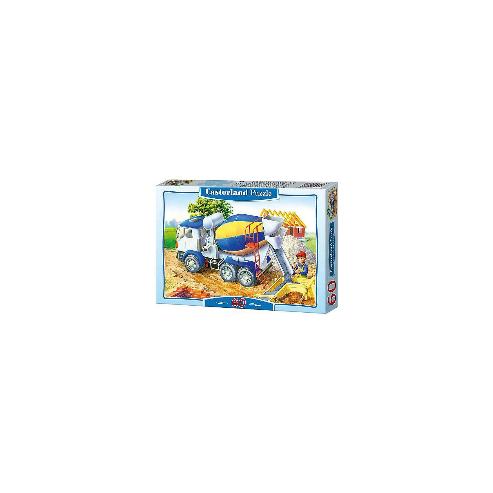 Пазлы Бетономешалка, 60 деталей, CastorlandПазлы для малышей<br>Пазлы Бетономешалка, 60 деталей  - яркий, красивый и качественный детский пазл с изображением картины сельской жизни и строительных работ.<br><br>Дополнительная информация:<br><br>- Кол-во деталей: 60 шт.<br>- Материал: картон.<br>- Размер собранной картинки: 32 х 23 см.<br>- Размеры: 130x180x35 мм<br><br>Пазлы Бетономешалка, 60 деталей, Castorland Вы можете купить в нашем интернет - магазине.<br><br>Ширина мм: 180<br>Глубина мм: 40<br>Высота мм: 130<br>Вес г: 150<br>Возраст от месяцев: 36<br>Возраст до месяцев: 84<br>Пол: Мужской<br>Возраст: Детский<br>Количество деталей: 60<br>SKU: 2562345