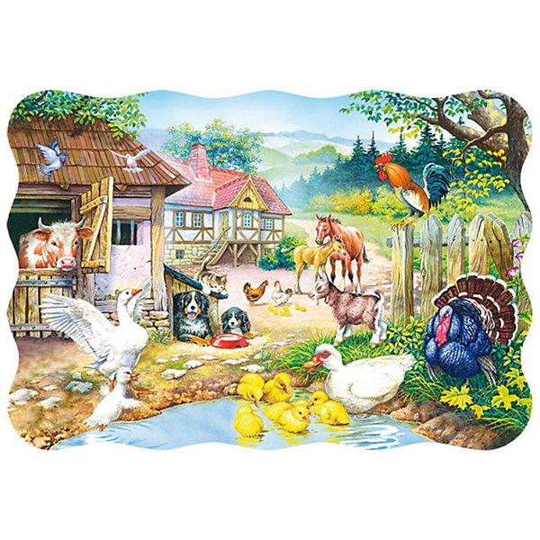 Пазлы Ферма, 30 деталей, CastorlandПазлы для малышей<br>Пазлы Ферма, 30 деталей - яркий и красивый пазл-мозаика для малышей, с сюжетом на тему сельской жизни.<br><br>Дополнительная информация:<br><br>- Кол-во деталей: 30 шт.<br>- Материал: картон.<br>- Размер собранной картинки: 32 х 23 см.<br>- Размеры упаковки: 27,5 х 19 х 3,7 см.<br><br>Ширина мм: 180<br>Глубина мм: 40<br>Высота мм: 130<br>Вес г: 150<br>Возраст от месяцев: 36<br>Возраст до месяцев: 84<br>Пол: Унисекс<br>Возраст: Детский<br>Количество деталей: 30<br>SKU: 2562346