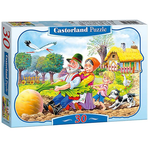 Пазл Castorland Репка, 30 деталейПазлы для малышей<br>Пазлы Репка, 30 деталей - яркий и красивый пазл-мозаика для детей, созданный по мотивам любимой сказки.<br><br>Дополнительная информация:<br><br>- Кол-во деталей: 30 шт.<br>- Материал: картон.<br>- Размер собранной картинки: 32 х 23 см.<br>- Размеры упаковки: 130x185x35 мм.<br><br>Ширина мм: 180<br>Глубина мм: 40<br>Высота мм: 130<br>Вес г: 150<br>Возраст от месяцев: 36<br>Возраст до месяцев: 2147483647<br>Пол: Унисекс<br>Возраст: Детский<br>Количество деталей: 30<br>SKU: 2562348