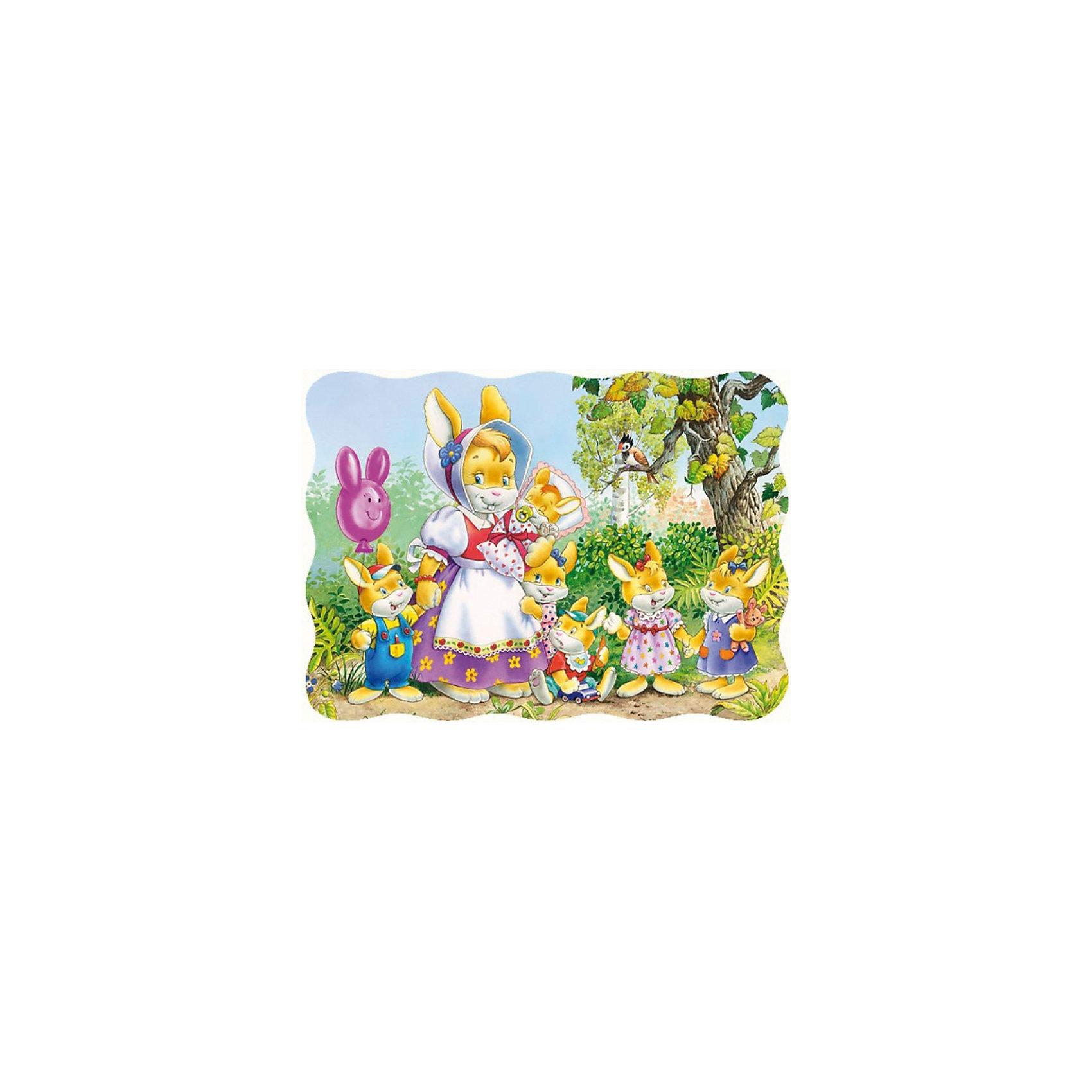 Пазл Семья кроликов, 30 деталей, CastorlandПазлы Семья кроликов, 30 деталей - яркий и красочный пазл-мозаика для малышей.<br><br>Дополнительная информация:<br><br>- Кол-во деталей: 30 шт.<br>- Материал: картон.<br>- Размер собранной картинки: 32 х 23 см.<br>- Размеры упаковки: 27,5 х 19 х 3,7 см.<br><br>Ширина мм: 180<br>Глубина мм: 40<br>Высота мм: 130<br>Вес г: 150<br>Возраст от месяцев: 36<br>Возраст до месяцев: 84<br>Пол: Унисекс<br>Возраст: Детский<br>Количество деталей: 30<br>SKU: 2562349