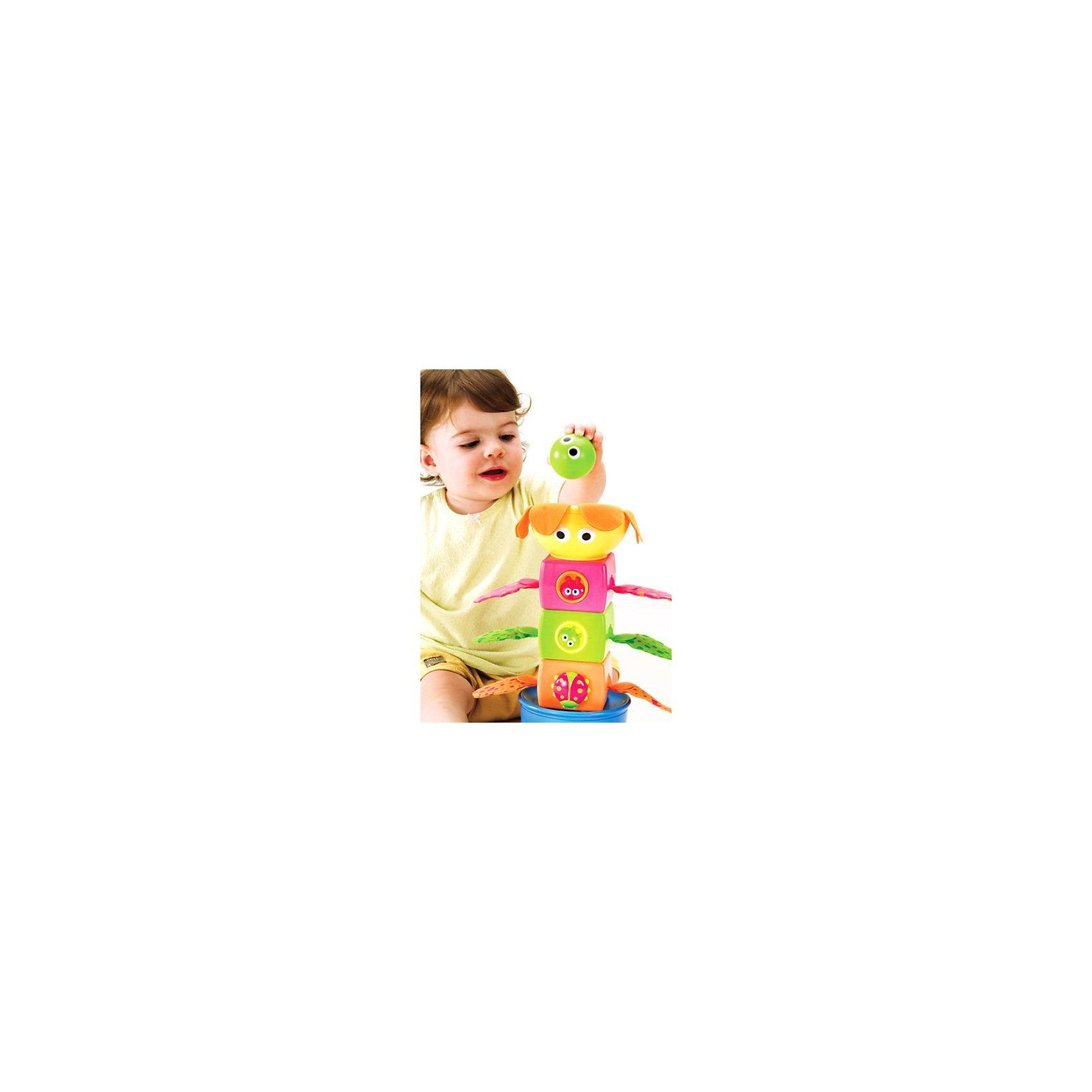 Yookidoo Музыкальная пирамидкаПирамидки<br>Yookidoo Музыкальная пирамидка - яркая и красивая развивающая музыкальная игрушка для малышей, представляющая собой сборно-разборную пирамидку в форме цветочка, сидящего в горшке.<br><br>Пирамидка состит из 5 частей и представляет собой своеобразный музыкальный туннель.<br>Части пирамидки отличаются друг от друга по форме и цвету и оформлены в цветочно-летней тематике. В комплекте также идут разноцветные шарики, каждый из которых при опускании в туннель воспроизводит свое уникальное звуковое сопровождение!<br>Игрушка стимулирует малыша к активным действиям, способствует развитию моторики рук и координации движений  ребенка!<br><br>Дополнительная информация:<br><br>- Материал: пластик <br>- Размер (Д х Ш х В): 25х12,5х36 см<br><br>Ширина мм: 250<br>Глубина мм: 360<br>Высота мм: 125<br>Вес г: 1125<br>Возраст от месяцев: 9<br>Возраст до месяцев: 36<br>Пол: Унисекс<br>Возраст: Детский<br>SKU: 2565141