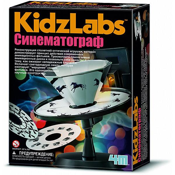4M 00-03255 СинематографНаборы для робототехники<br>Реконструкция столетней оптической игрушки, которая демонстрирует принцип действия современных анимационных фильмов. Просмотрите прилагаемые анимационные диски и позвольте себе удивиться тому, как оживают неподвижные картинки. Включает светодиодную лампу, которая имитирует мерцание старых фильмов. Это вдохновляющий научный конструктор.<br><br>Ширина мм: 170<br>Глубина мм: 210<br>Высота мм: 55<br>Вес г: 200<br>Возраст от месяцев: 96<br>Возраст до месяцев: 192<br>Пол: Унисекс<br>Возраст: Детский<br>SKU: 2568326