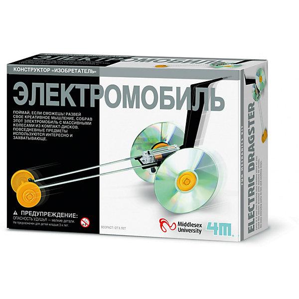 4M 00-03905 ЭлектромобильНаборы для робототехники<br>Поймай, если сможешь! Развей свое креативное мышление, собрав этот электромобиль с массивными колесами из компакт-дисков. Повседневные предметы используются интересно и захватывающе.<br><br>Ширина мм: 235<br>Глубина мм: 135<br>Высота мм: 65<br>Вес г: 200<br>Возраст от месяцев: 96<br>Возраст до месяцев: 192<br>Пол: Унисекс<br>Возраст: Детский<br>SKU: 2568343