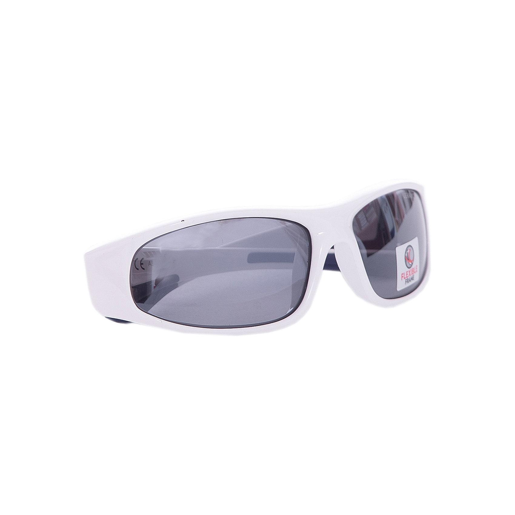 Очки солнцезащитные FLEXXY JUNIOR, бело-голубые, ALPINAСолнцезащитные очки<br><br><br>Ширина мм: 136<br>Глубина мм: 81<br>Высота мм: 40<br>Вес г: 38<br>Цвет: синий/белый<br>Возраст от месяцев: 60<br>Возраст до месяцев: 144<br>Пол: Унисекс<br>Возраст: Детский<br>SKU: 2568554