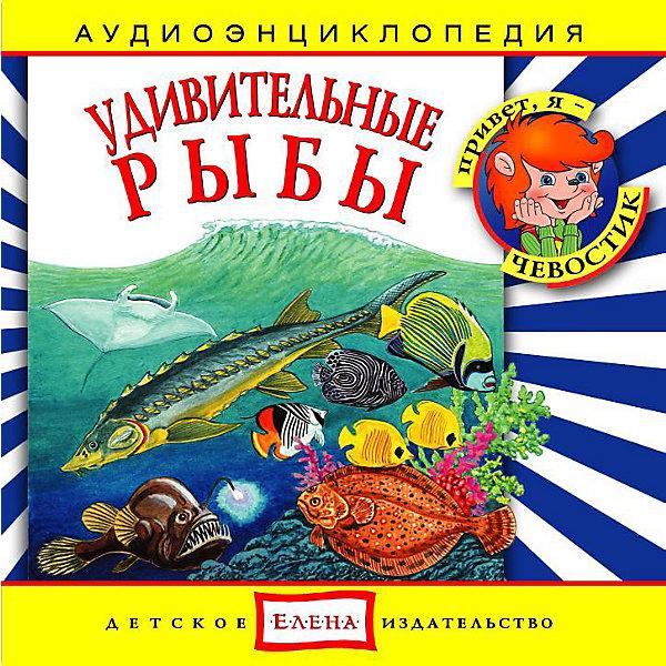 Аудиоэнциклопедия Удивительные рыбы, CDАудиокниги, DVD и CD<br>Характеристики:<br><br>• издательство: Елена;<br>• размер: 14,0х13,0х1,0 см.;<br>• тип аудиодиска; CD<br>• материал: пластик;<br>• вес: 79 г.;<br>• для детей в возрасте: от 5 лет;<br>• страна производитель: Россия.<br><br>Аудиодиск Удивительные рыбы от издательства «Елена» серии «Чевостик» познакомит маленьких слушателей с разными видами морских обитателей, а также с необычным видами рыб. В коллекцию энциклопедии вошли одиннадцать интересных треков рассказывающих о том как дышат рыбы, зачем им боковая линия, об особенностях камбалы, лососей и белуг, кто обитает в коралловых рифах и не только.<br><br>Аудиэнциклопедия - это наиболее лёгкий и доступный способ восприятия информации для детей. В игровой форме с любимыми героями малыш узнает много нового. Материал изложен в форме беседы с включением песенок, что надолго удерживает внимание ребёнка. Сборник начинается с вступительной песенки и заканчивает заключительной.<br><br>Слушая музыкальные рассказы, озвученные профессиональными актерами, дети развивают грамотную речь, внимание, усидчивость.<br><br>Аудиэнциклопедию «Удивительные рыбы», можно купить в нашем интернет-магазине.<br><br>Ширина мм: 142<br>Глубина мм: 10<br>Высота мм: 125<br>Вес г: 79<br>Возраст от месяцев: 60<br>Возраст до месяцев: 144<br>Пол: Унисекс<br>Возраст: Детский<br>SKU: 2580856