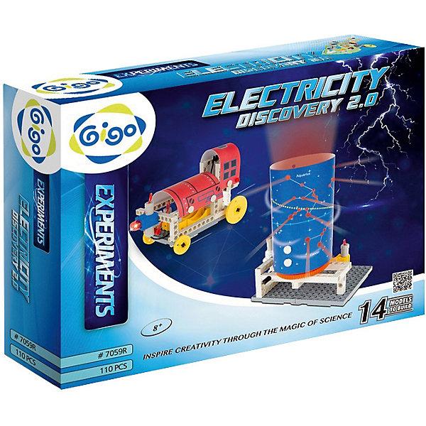 Электрическая энергияХимия и физика<br>Конструктор Gigo Electricity discovery (Гиго. Электрическая энергия) - это конструктор, все модели которого работают от электрической энергии. В наборе 90 деталей для 10 разных моделей. В инструкции пользователя пошаговые схемы сборки для каждой модели, полезная информация, исторические сведения и схемы проведения 8 экспериментов по электричеству. Конструктор развивает у детей фантазию, воображение и логику.<br><br>Ширина мм: 300<br>Глубина мм: 370<br>Высота мм: 80<br>Вес г: 965<br>Возраст от месяцев: 96<br>Возраст до месяцев: 156<br>Пол: Унисекс<br>Возраст: Детский<br>SKU: 2591476