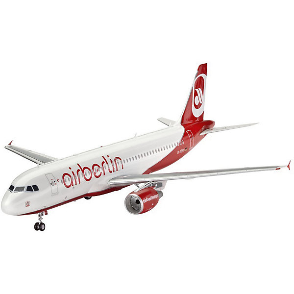 Самолет Пассажирский Airbus A320 AirBerlinСамолеты и вертолеты<br>Характеристики товара:<br><br>• возраст: от 10 лет;<br>• цвет: белый;<br>• масштаб: 1:144;<br>• количество деталей: 60 шт;<br>• материал: пластик;<br>• клей и краски в комплект не входят;<br>• длина модели: 26,1 см;<br>• размах крыльев: 23,5 см;<br>• бренд, страна бренда: Revell (Ревел), Германия;<br>• страна-изготовитель: Польша.<br><br>Сборная модель для склеивания «Самолет Пассажирский Airbus A320 AirBerlin» поможет вам и вашему ребенку придумать увлекательное занятие на долгое время. <br><br>Набор включает в себя 60 пластиковых элемента, из которых можно собрать достоверную уменьшенную копию одноименного самолета. Также в наборе схематичная инструкция по сборке. <br><br>Airbus A320 - семейство узкофюзеляжных самолётов для авиалиний малой и средней протяжённости. Первый самолет был выпущен в 1988 году. Сейчас в эксплуатации находятся 5327 машин.<br> <br>Процесс сборки развивает интеллектуальные и инструментальные способности, воображение и конструктивное мышление, а также прививает практические навыки работы со схемами и чертежами. <br><br>Обращаем ваше внимание на тот факт, что для сборки этой модели клей и краски в комплект не входят. <br><br>Сборную модель для склеивания «Самолет Пассажирский Airbus A320 AirBerlin», 60 дет., Revell (Ревел) можно купить в нашем интернет-магазине.<br><br>Ширина мм: 354<br>Глубина мм: 213<br>Высота мм: 48<br>Вес г: 237<br>Возраст от месяцев: 120<br>Возраст до месяцев: 180<br>Пол: Мужской<br>Возраст: Детский<br>SKU: 2594005