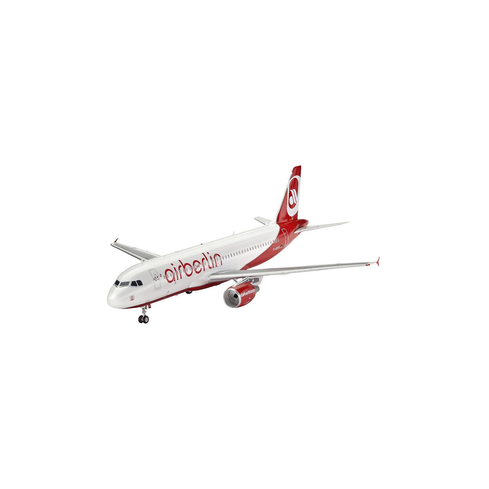 Самолет Пассажирский Airbus A320 AirBerlinМодели для склеивания<br>Характеристики товара:<br><br>• возраст: от 10 лет;<br>• цвет: белый;<br>• масштаб: 1:144;<br>• количество деталей: 60 шт;<br>• материал: пластик;<br>• клей и краски в комплект не входят;<br>• длина модели: 26,1 см;<br>• размах крыльев: 23,5 см;<br>• бренд, страна бренда: Revell (Ревел), Германия;<br>• страна-изготовитель: Польша.<br><br>Сборная модель для склеивания «Самолет Пассажирский Airbus A320 AirBerlin» поможет вам и вашему ребенку придумать увлекательное занятие на долгое время. <br><br>Набор включает в себя 60 пластиковых элемента, из которых можно собрать достоверную уменьшенную копию одноименного самолета. Также в наборе схематичная инструкция по сборке. <br><br>Airbus A320 - семейство узкофюзеляжных самолётов для авиалиний малой и средней протяжённости. Первый самолет был выпущен в 1988 году. Сейчас в эксплуатации находятся 5327 машин.<br> <br>Процесс сборки развивает интеллектуальные и инструментальные способности, воображение и конструктивное мышление, а также прививает практические навыки работы со схемами и чертежами. <br><br>Обращаем ваше внимание на тот факт, что для сборки этой модели клей и краски в комплект не входят. <br><br>Сборную модель для склеивания «Самолет Пассажирский Airbus A320 AirBerlin», 60 дет., Revell (Ревел) можно купить в нашем интернет-магазине.<br><br>Ширина мм: 354<br>Глубина мм: 213<br>Высота мм: 48<br>Вес г: 237<br>Возраст от месяцев: 120<br>Возраст до месяцев: 180<br>Пол: Мужской<br>Возраст: Детский<br>SKU: 2594005
