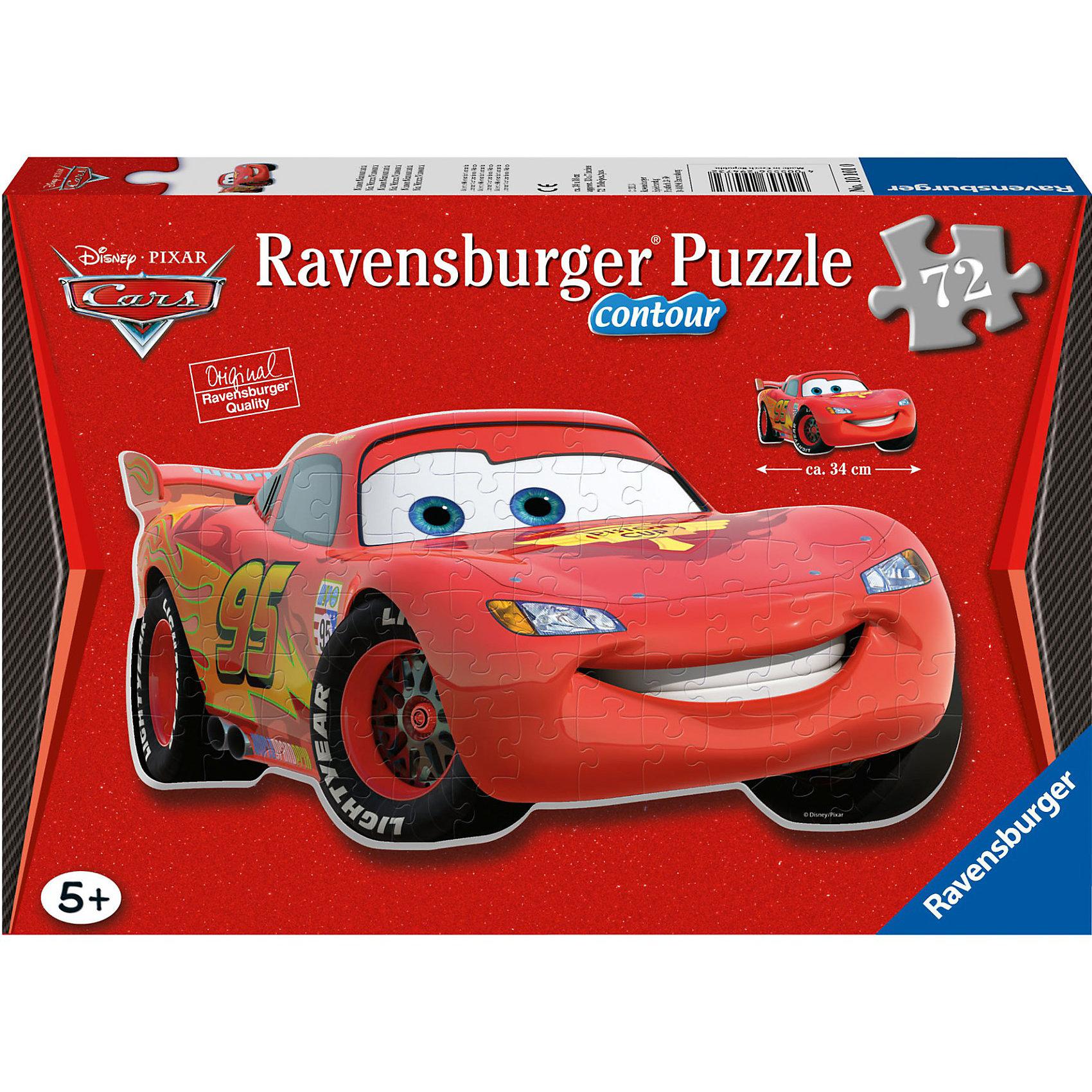 Ravensburger Контурный пазл Тачки Ravensburger, 72 детали 3d пазл ravensburger неоновые тачки 108 элементов 122509