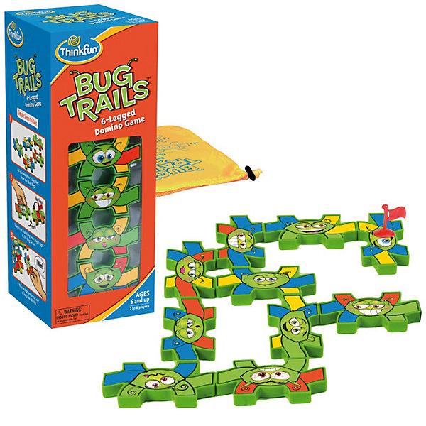 Игра Муравьиная тропинка, ThinkfunСтратегические настольные игры<br>5980-RU Муравьиная Тропинка - Bug Trails<br>Красочное домино для детей с оригинальными правилами.<br> Цель игры: Первым избавиться от всех своих фишек.<br>Правила игры:<br> - Игроки набирают по 5 фишек из мешка с фишками.<br> - Первый игрок выкладывает любую из своих фишек, ставит на нее флаг Муравья-скаута<br> - По очереди каждый игрок старается выложить одну из своих фишек так, чтобы хотя бы одна из ножек совпала по цвету с ножкой Муравья-скаута;<br> - При совпадении одной ножки (или когда вообще нет возможности выложить фишку) игрок берет новую фишку из мешка.<br> - При совпадении двух ножек игрок НЕ берет новую фишку из мешка.<br> - При совпадении трех или более ножек игрок может скинуть любую из своих фишек обратно в мешок.<br> - Флаг муравья-скаута перемещается на последнюю выложенную фишку. Ход переходит к следующему игроку.<br>* коробка полностью переведена на русский<br><br>Ширина мм: 300<br>Глубина мм: 260<br>Высота мм: 60<br>Вес г: 390<br>Возраст от месяцев: 36<br>Возраст до месяцев: 144<br>Пол: Унисекс<br>Возраст: Детский<br>SKU: 2604189