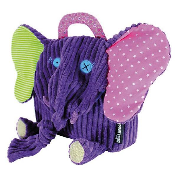 Рюкзак Слоненок Sandykilos, DeglingosDeglingos<br>Очаровательный рюкзачок Слоненок Sandykilos от французского бренда Deglingos (Деглингос) сразу покорит Ваше сердце!<br> <br>Уже при первом прикосновении к слоненку Вы и Ваш ребенок почувствуйте всю любовь, с которой был сшит этот рюкзачок!<br><br>У слоненка разноцветные уши, длинный хобот и розовая ручка. Удивительно мягкий, выполненный из нежного вельвета, с ручной вышивкой, слоненок не даст малышу затеряться среди сверстников. <br><br>Рюкзачок имеет удобную застежку на липучке и регулируемые лямки. Рюкзак изготовлен из высококачественных материалов и соотвествуют европейскому стандарту EN71.<br><br>Сложив в слоненка все необходимое, Ваш ребенок сможет отправиться с ним в детский сад, на прогулку или в поездку.<br><br>Очаровательный слоненок Sandykilos станет хорошим другом Вашему малышу!<br><br><br>Дополнительная информация:<br><br>- Ручная работа<br>- Замок на липучках<br>- Регулируемые лямки<br>- Материал: высококачественный текстиль, хлопок и полиэстр<br>- Размер: 25 х 25 см<br>- Соответствует ЕС и нормами США по безопасности игрушек (EN71, ASTM, AZO)<br><br>Рюкзак Слоненок Sandykilos от Deglingos можно купить в нашем интернет-магазине.<br><br>Ширина мм: 250<br>Глубина мм: 300<br>Высота мм: 60<br>Вес г: 160<br>Возраст от месяцев: 24<br>Возраст до месяцев: 60<br>Пол: Унисекс<br>Возраст: Детский<br>SKU: 2607973