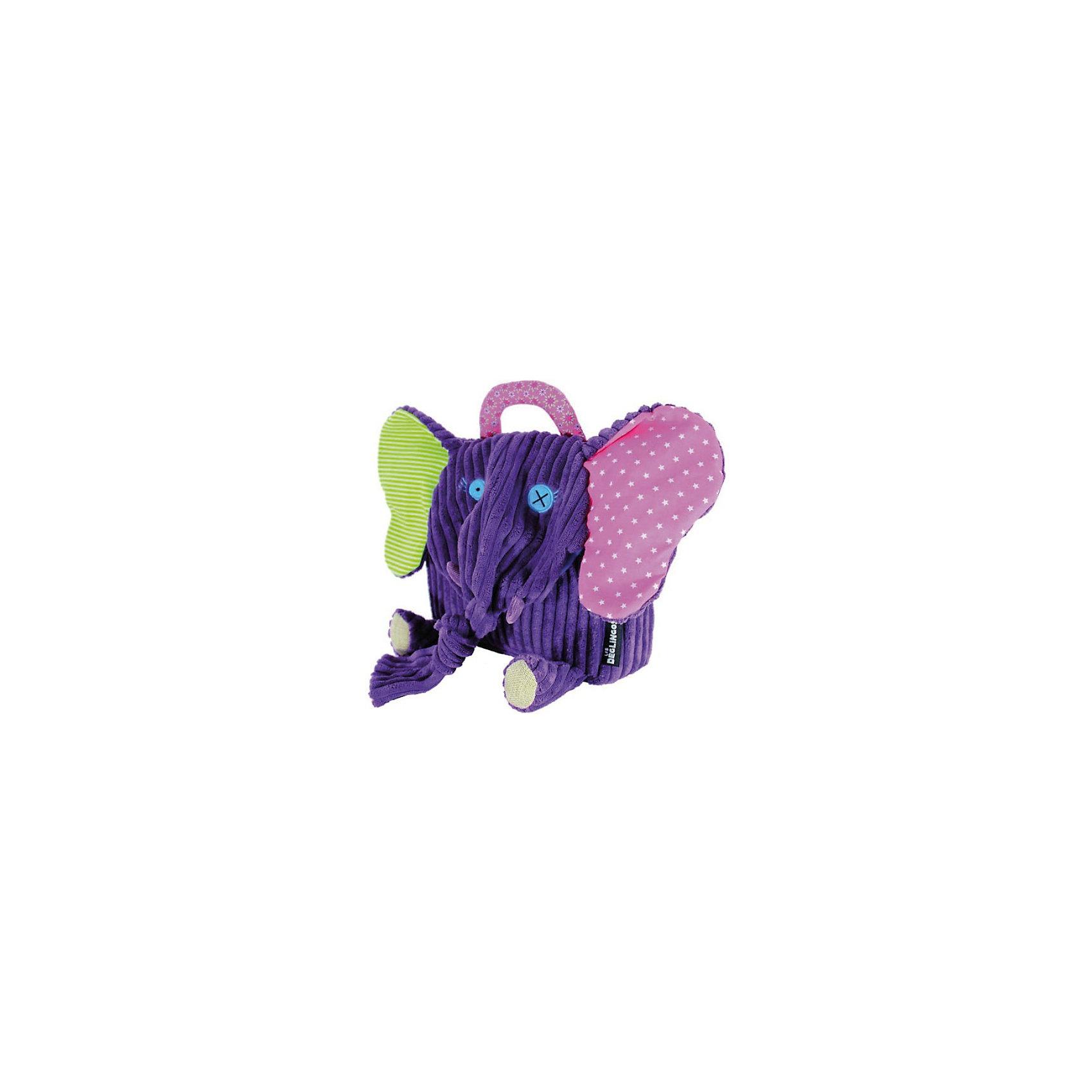 Рюкзак Слоненок Sandykilos, DeglingosПлюшевые сумки и рюкзаки<br>Очаровательный рюкзачок Слоненок Sandykilos от французского бренда Deglingos (Деглингос) сразу покорит Ваше сердце!<br> <br>Уже при первом прикосновении к слоненку Вы и Ваш ребенок почувствуйте всю любовь, с которой был сшит этот рюкзачок!<br><br>У слоненка разноцветные уши, длинный хобот и розовая ручка. Удивительно мягкий, выполненный из нежного вельвета, с ручной вышивкой, слоненок не даст малышу затеряться среди сверстников. <br><br>Рюкзачок имеет удобную застежку на липучке и регулируемые лямки. Рюкзак изготовлен из высококачественных материалов и соотвествуют европейскому стандарту EN71.<br><br>Сложив в слоненка все необходимое, Ваш ребенок сможет отправиться с ним в детский сад, на прогулку или в поездку.<br><br>Очаровательный слоненок Sandykilos станет хорошим другом Вашему малышу!<br><br><br>Дополнительная информация:<br><br>- Ручная работа<br>- Замок на липучках<br>- Регулируемые лямки<br>- Материал: высококачественный текстиль, хлопок и полиэстр<br>- Размер: 25 х 25 см<br>- Соответствует ЕС и нормами США по безопасности игрушек (EN71, ASTM, AZO)<br><br>Рюкзак Слоненок Sandykilos от Deglingos можно купить в нашем интернет-магазине.<br><br>Ширина мм: 250<br>Глубина мм: 300<br>Высота мм: 60<br>Вес г: 160<br>Возраст от месяцев: 24<br>Возраст до месяцев: 60<br>Пол: Унисекс<br>Возраст: Детский<br>SKU: 2607973