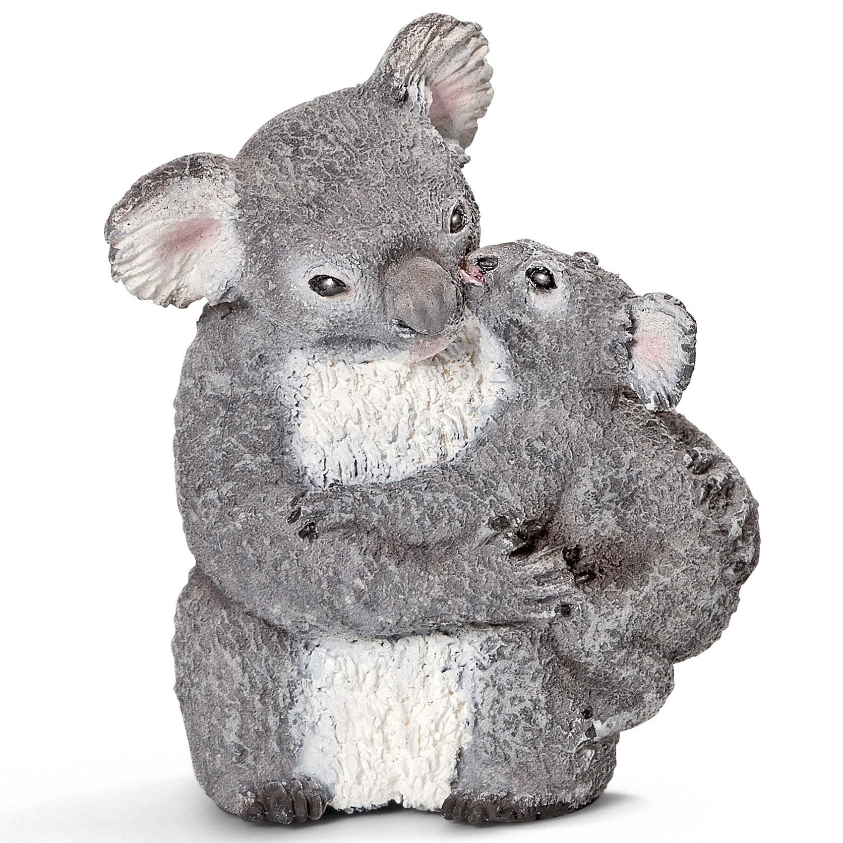 Schleich Коала с детенышем. Серия Дикие животныеМир животных<br>Schleich (Шляйх) Коала с детенышем. Серия Дикие животные. Это очень милое травоядное сумчатое животное, обитающее исключительно в Австралии и являющееся символом страны. Тело покрыто густым серым мехом. Коала проводит всю свою жизнь на кронах эвкалиптовых деревьев. Коала ночное животное, днем оно спит, а ночью ищет себе пропитание.<br><br>Дополнительная информация:<br><br>-материал: высококачественный пластик<br>-фигурка раскрашена вручную<br>-размеры (ДхШхВ): 3х4,5х4 см<br><br>Игрушку Schleich (Шляйх) Коала с детенышем. Серия Дикие животные  можно купить  в нашем магазине<br><br>Ширина мм: 55<br>Глубина мм: 40<br>Высота мм: 32<br>Вес г: 21<br>Возраст от месяцев: 36<br>Возраст до месяцев: 96<br>Пол: Унисекс<br>Возраст: Детский<br>SKU: 2609253