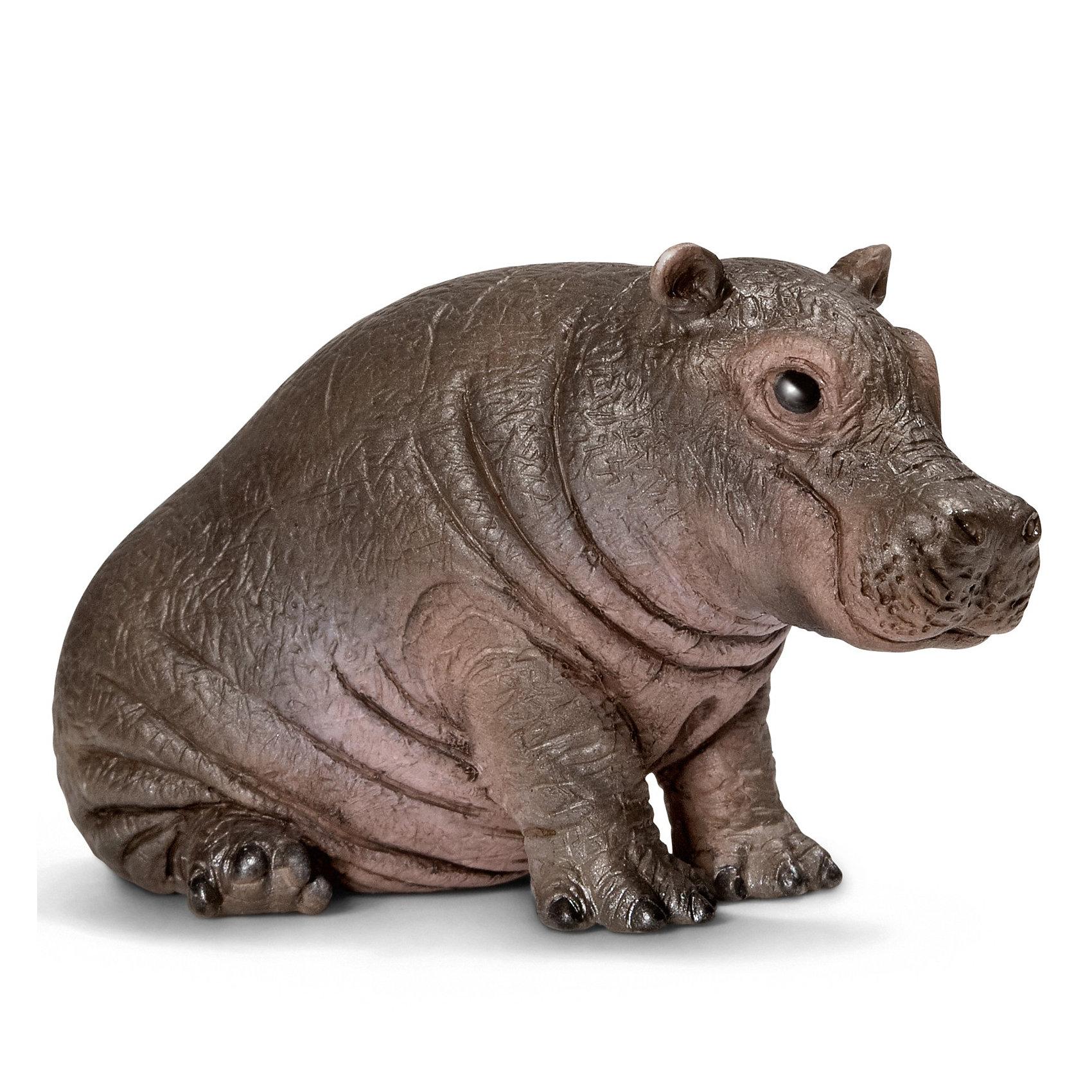 Schleich Гиппопотам, детеныш. Серия Дикие животныеМир животных<br>Гиппопотам — одно из крупнейших современных наземных животных. Он обитает в Африке, имеет большие и острые зубы.<br>Пластиковая фигурка от «Schleich (Шляйх)» кажется настоящим гиппопотамом, только очень-очень маленьким, легко помещающегося на ладони. Начните коллекцию крохотных животных с этой игрушки.<br><br>Дополнительная информация:<br><br>Размеры: 5,7х3,4х3,3 см<br>Материал: пластик<br>Фигурка раскрашена вручную<br><br>Фигурку детеныша гиппопотама от Schleich (Шляйх), серии Дикие животные можно купить в нашем магазине.<br><br>Ширина мм: 58<br>Глубина мм: 53<br>Высота мм: 32<br>Вес г: 29<br>Возраст от месяцев: 36<br>Возраст до месяцев: 96<br>Пол: Унисекс<br>Возраст: Детский<br>SKU: 2609258