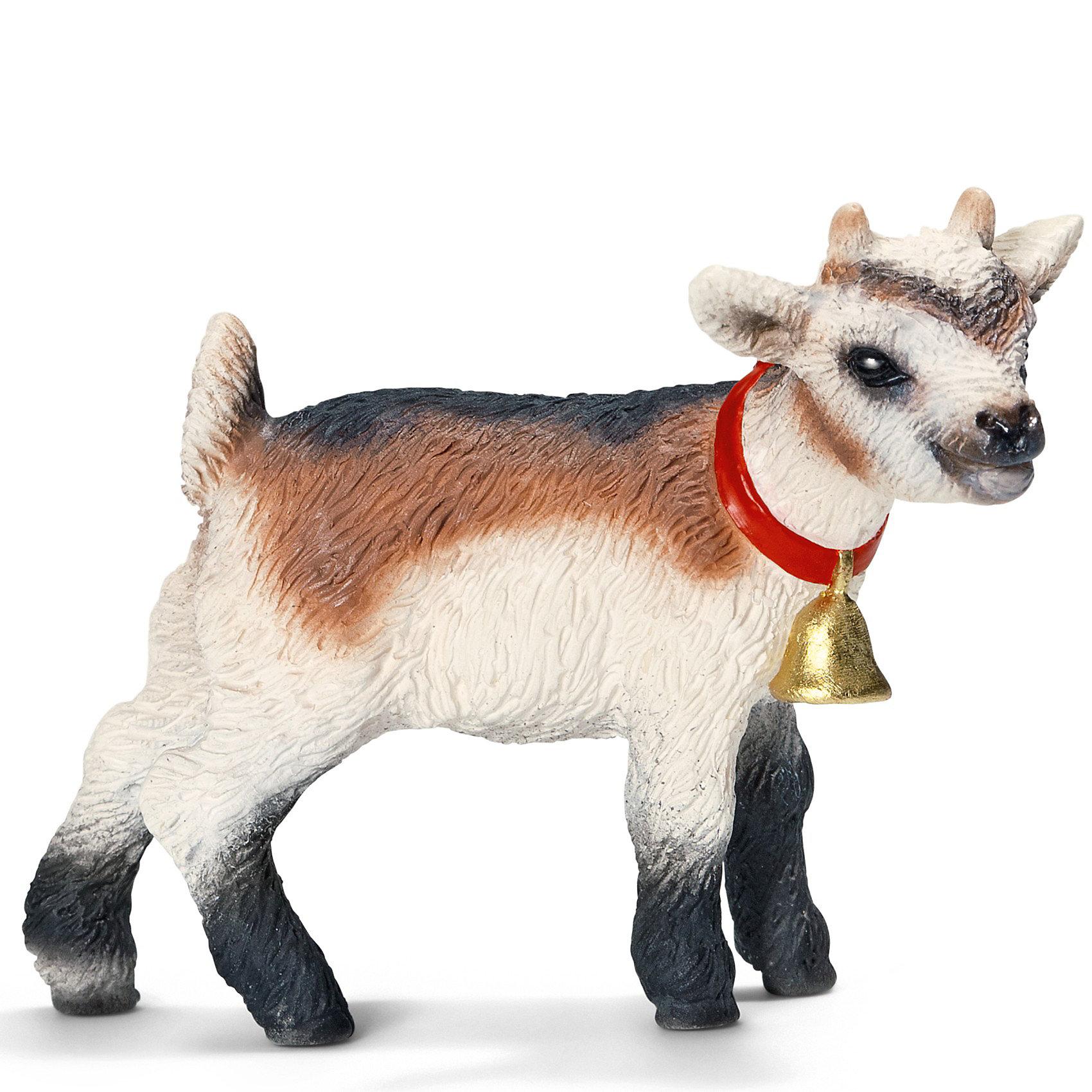 Домашняя коза, детеныш. Серия ФермаДомашние козы – одни из первых домашних животных, которых когда-либо держали на своих фермах люди.<br><br>Считается, что козы были одомашнены на Ближнем Востоке в 11 веке до н.э. Домашняя коза – самое простое в содержании животное, она обеспечивает мясом и молоком всю ферму. Благодаря своим прекрасным «альпинистским» навыкам, эти животные замечательно живут в горных районах. <br><br>Фигурка Домашняя коза, детеныш Schleich (Шляйх) из серии Животные фермы выполнена из каучукового пластика, каждая фигурка раскрашивается вручную.<br><br>Дополнительная информация:<br><br>- Размеры (ДхШхВ): около 2,5 х 4 х 5 см.<br><br>Ширина мм: 67<br>Глубина мм: 37<br>Высота мм: 7<br>Вес г: 1<br>Возраст от месяцев: 36<br>Возраст до месяцев: 96<br>Пол: Унисекс<br>Возраст: Детский<br>SKU: 2609273